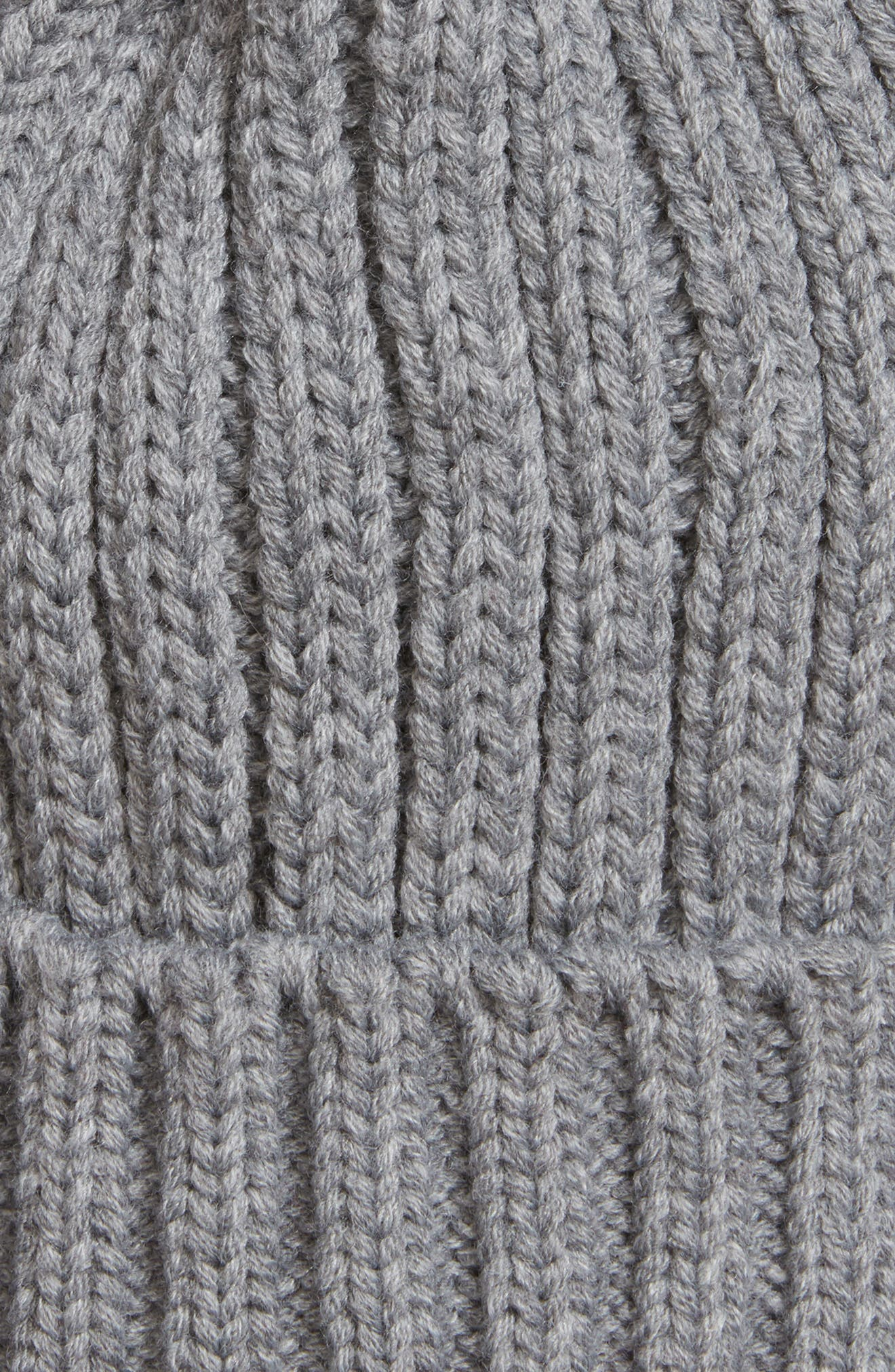 Faux Fur Pompom Beanie,                             Alternate thumbnail 2, color,                             020