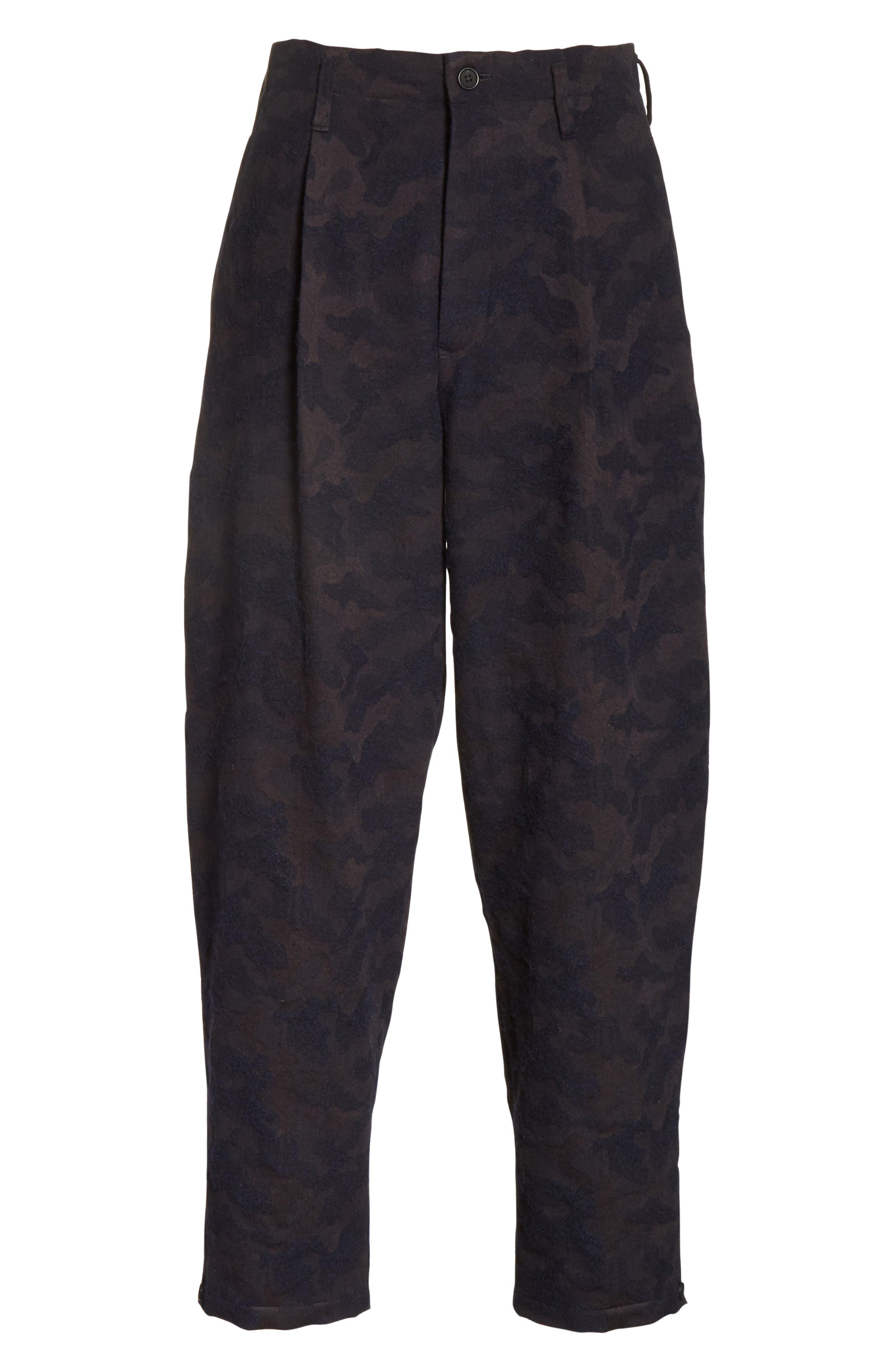 Camo Crop Pants,                             Alternate thumbnail 6, color,                             410