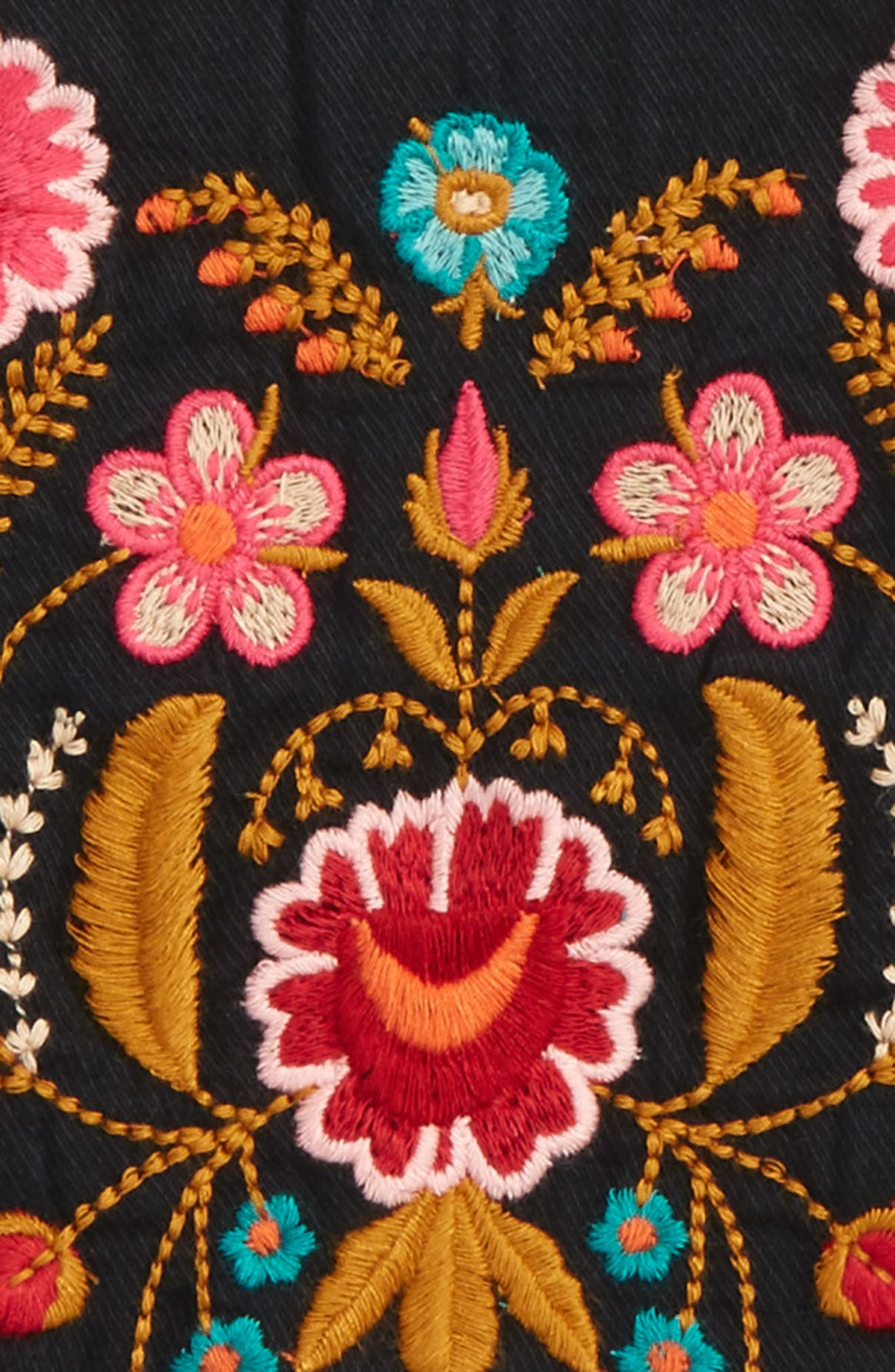 Emma Embroidered Twill Tunic,                             Alternate thumbnail 3, color,                             001