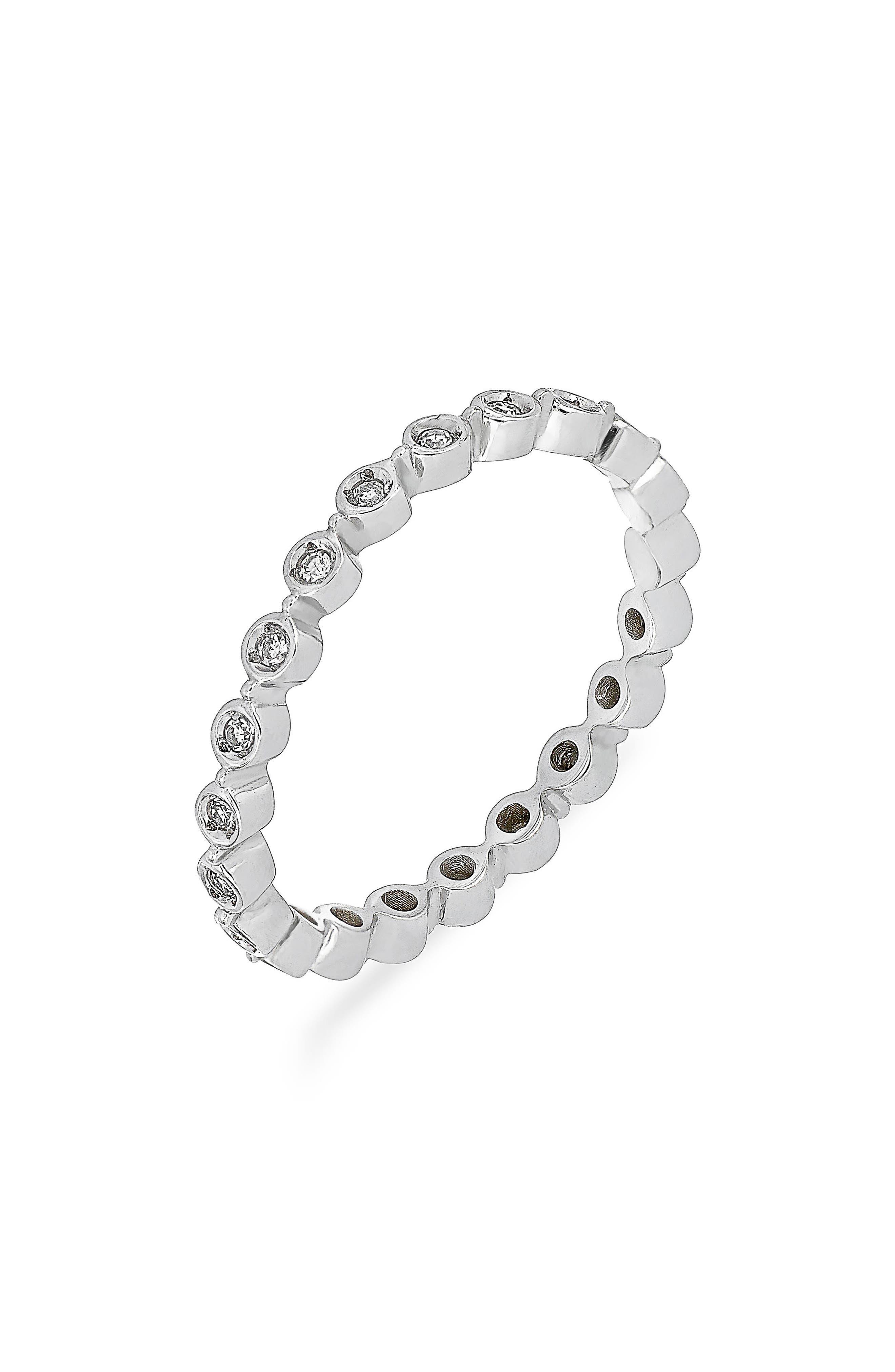 Carrière Bezel Diamond Stackable Ring,                         Main,                         color, 040