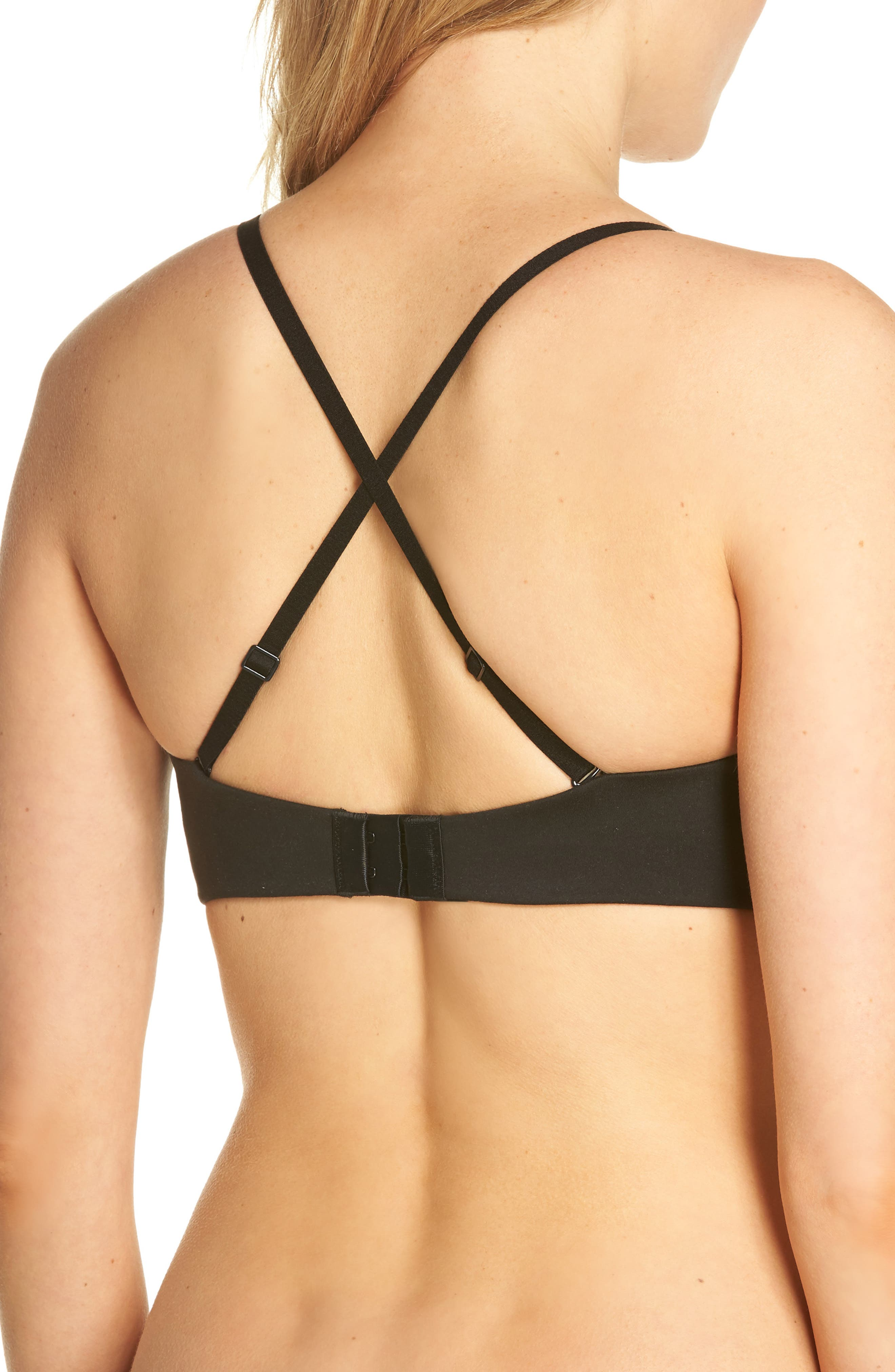Everyday Strapless Underwire Bra,                             Alternate thumbnail 4, color,                             BLACK