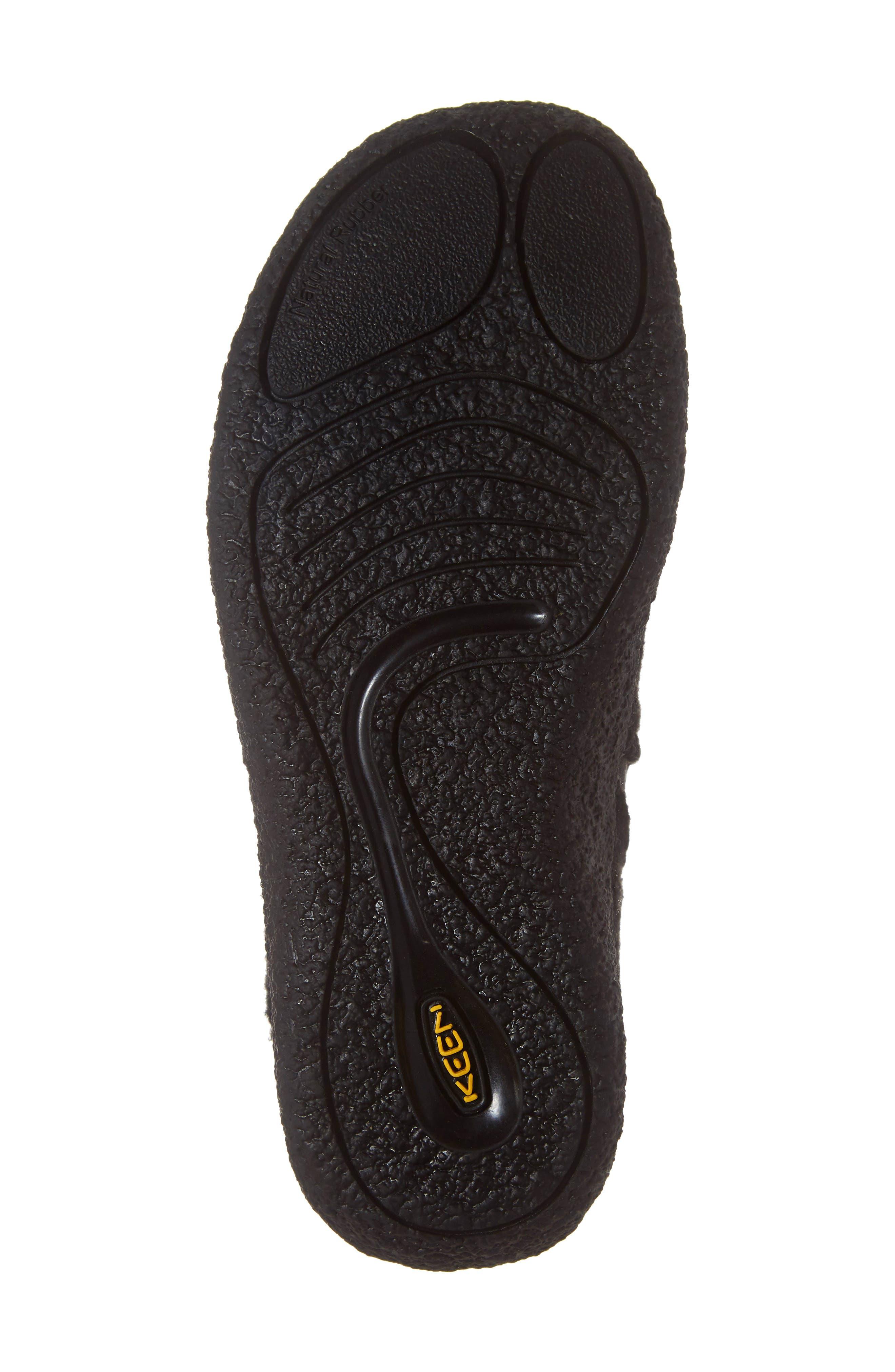 Howser Round Toe Wool Slip-on,                             Alternate thumbnail 6, color,                             BLACK KNOBBY/ STEEL GREY WOOL