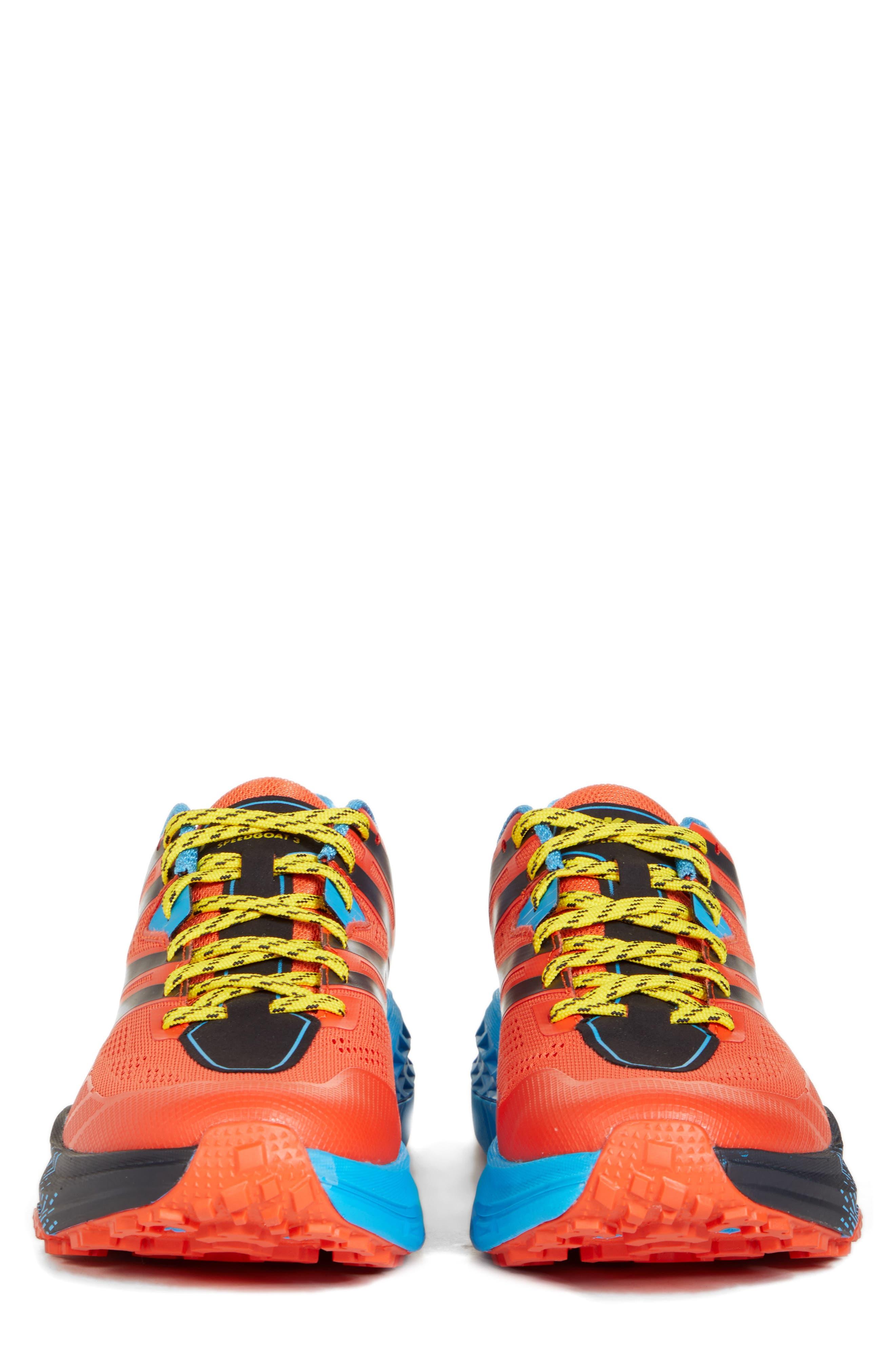 Speedgoat 3 Trail Running Shoe,                             Alternate thumbnail 7, color,                             NASTURTIUM/ SPICY ORANGE