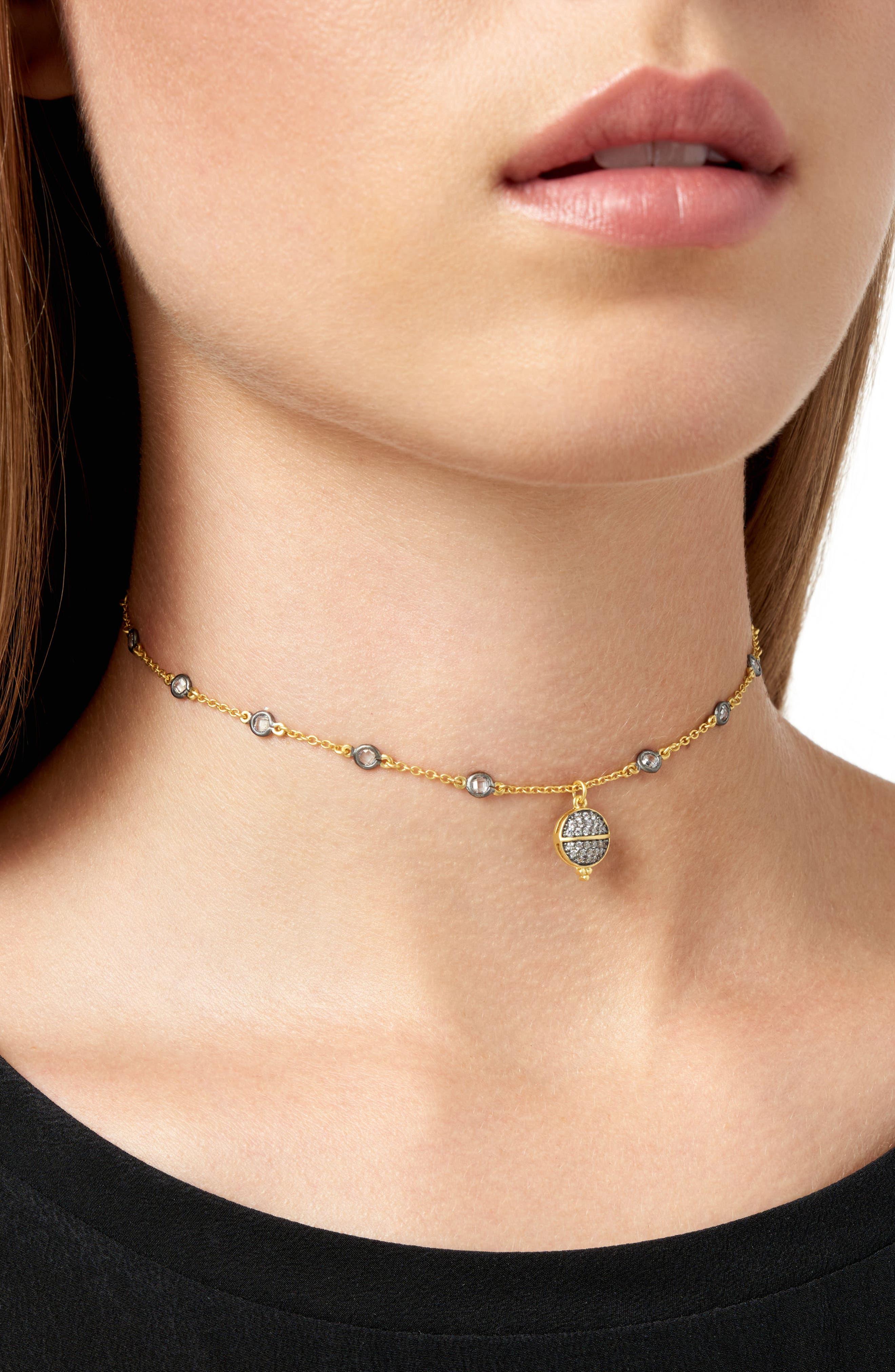 Textured Ornaments Choker Necklace,                             Alternate thumbnail 2, color,                             710