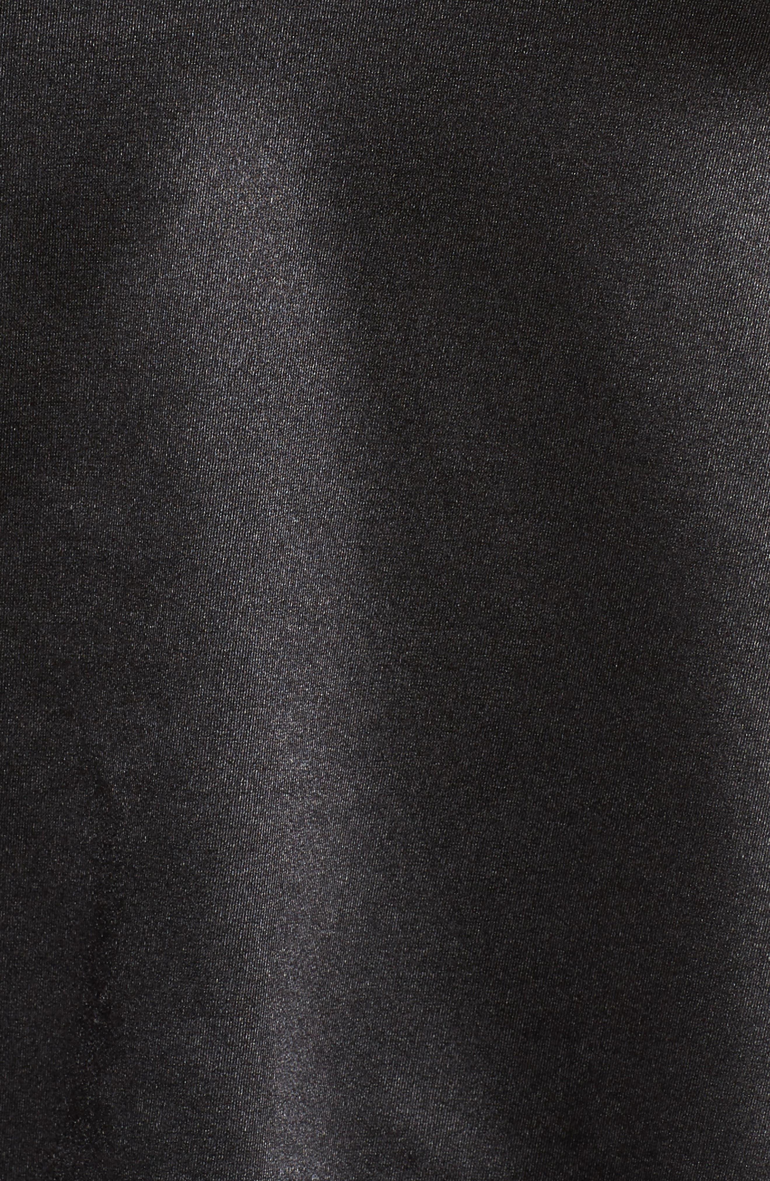Lace Trim Camisole,                             Alternate thumbnail 5, color,                             BLACK