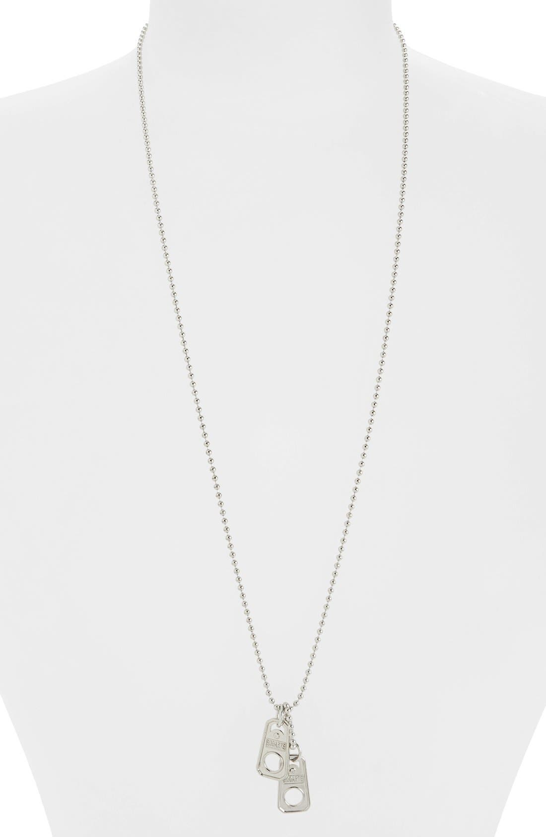 Ball Chain Necklace with Soda Can Pull Tab Pendants,                             Alternate thumbnail 2, color,                             040