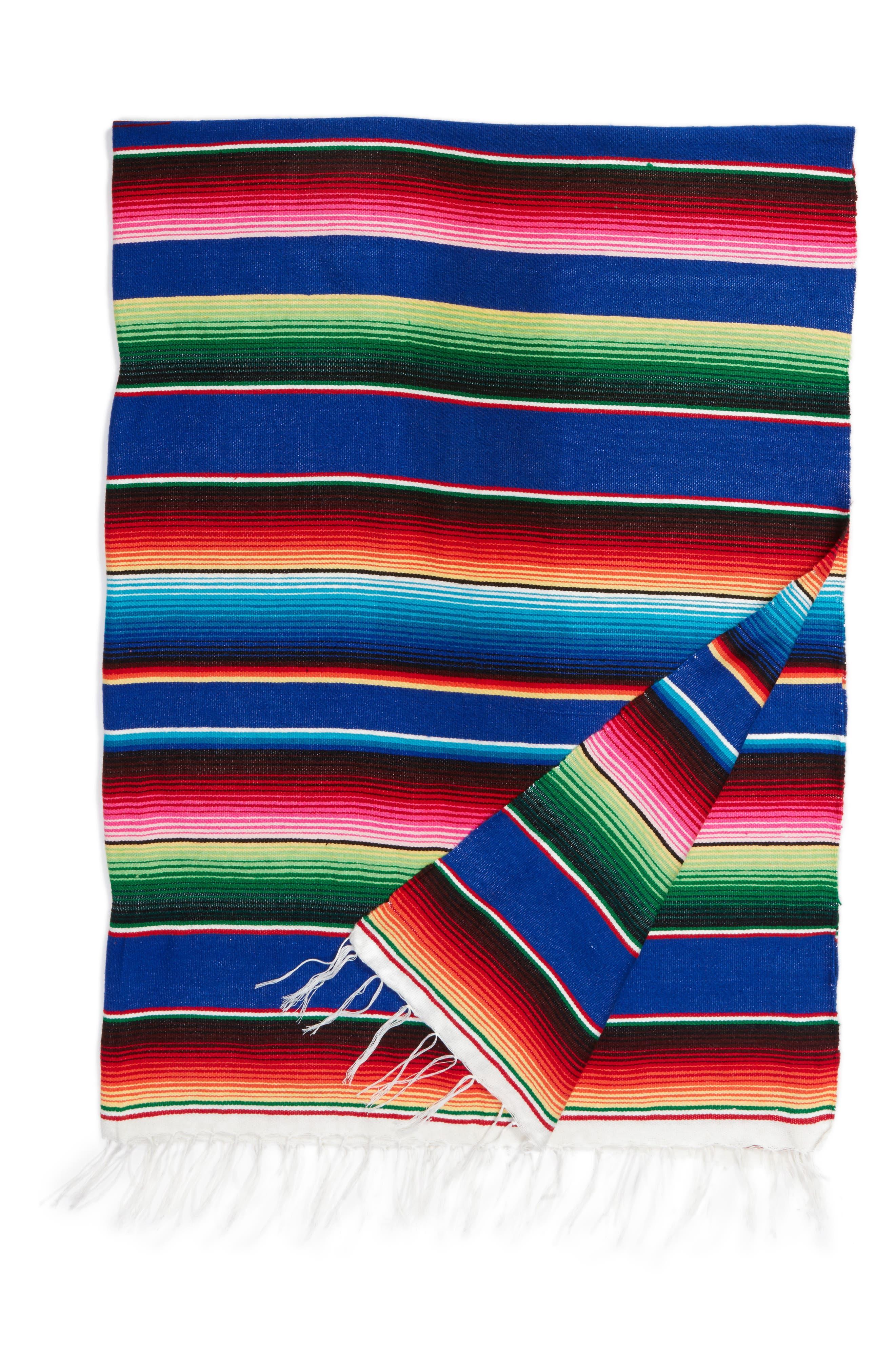 Large Serape Mexican Blanket,                             Main thumbnail 1, color,                             440