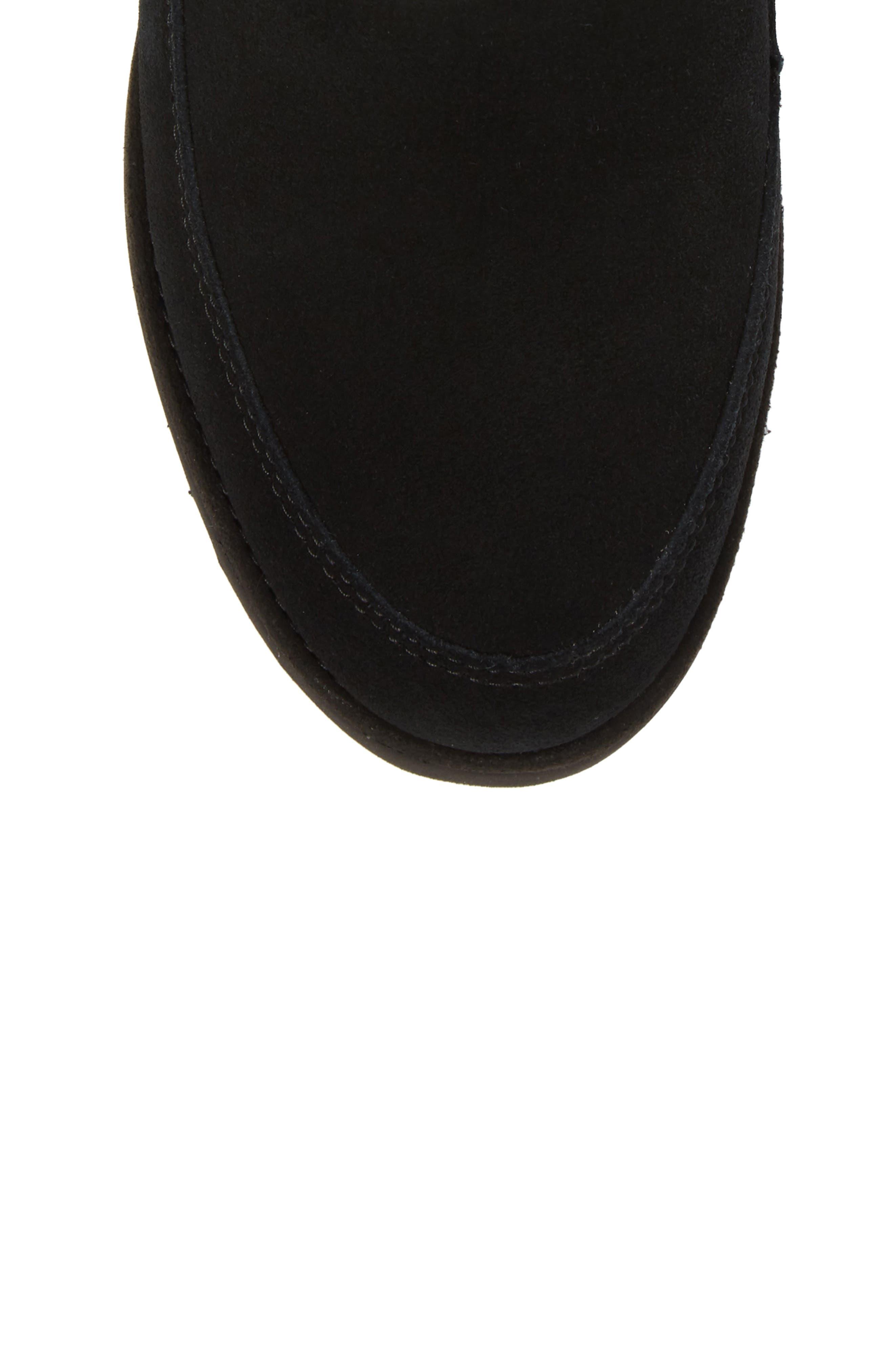 Alisia Grommet Bow Boot,                             Alternate thumbnail 5, color,                             001