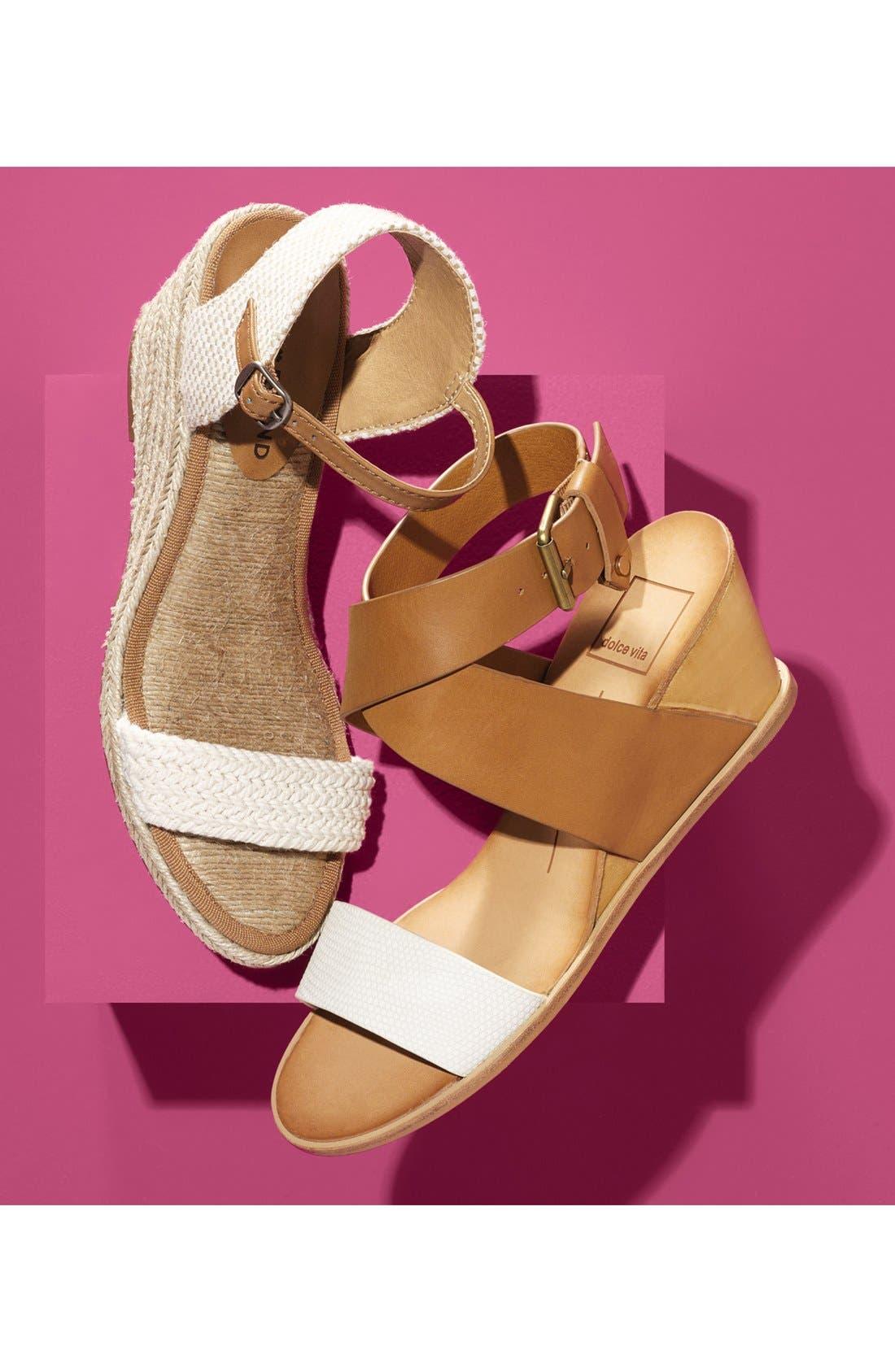 'Lola' Wedge Sandal,                             Alternate thumbnail 6, color,                             001