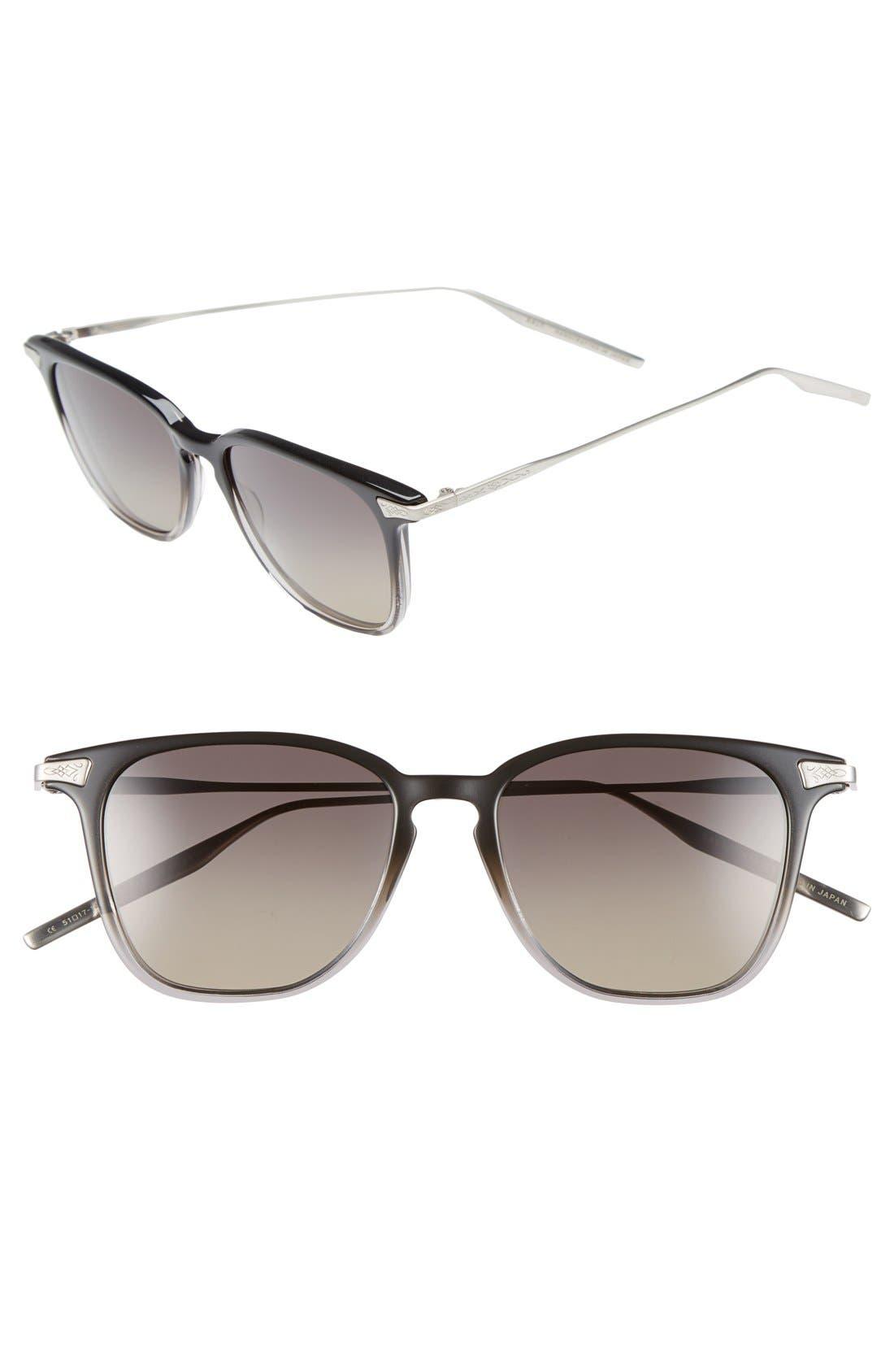 'Ridgeway' 51mm Polarized Sunglasses,                             Main thumbnail 1, color,                             LEAD GRADIENT/ GREY