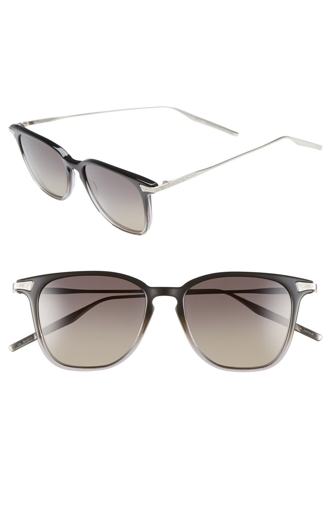 'Ridgeway' 51mm Polarized Sunglasses,                         Main,                         color, LEAD GRADIENT/ GREY