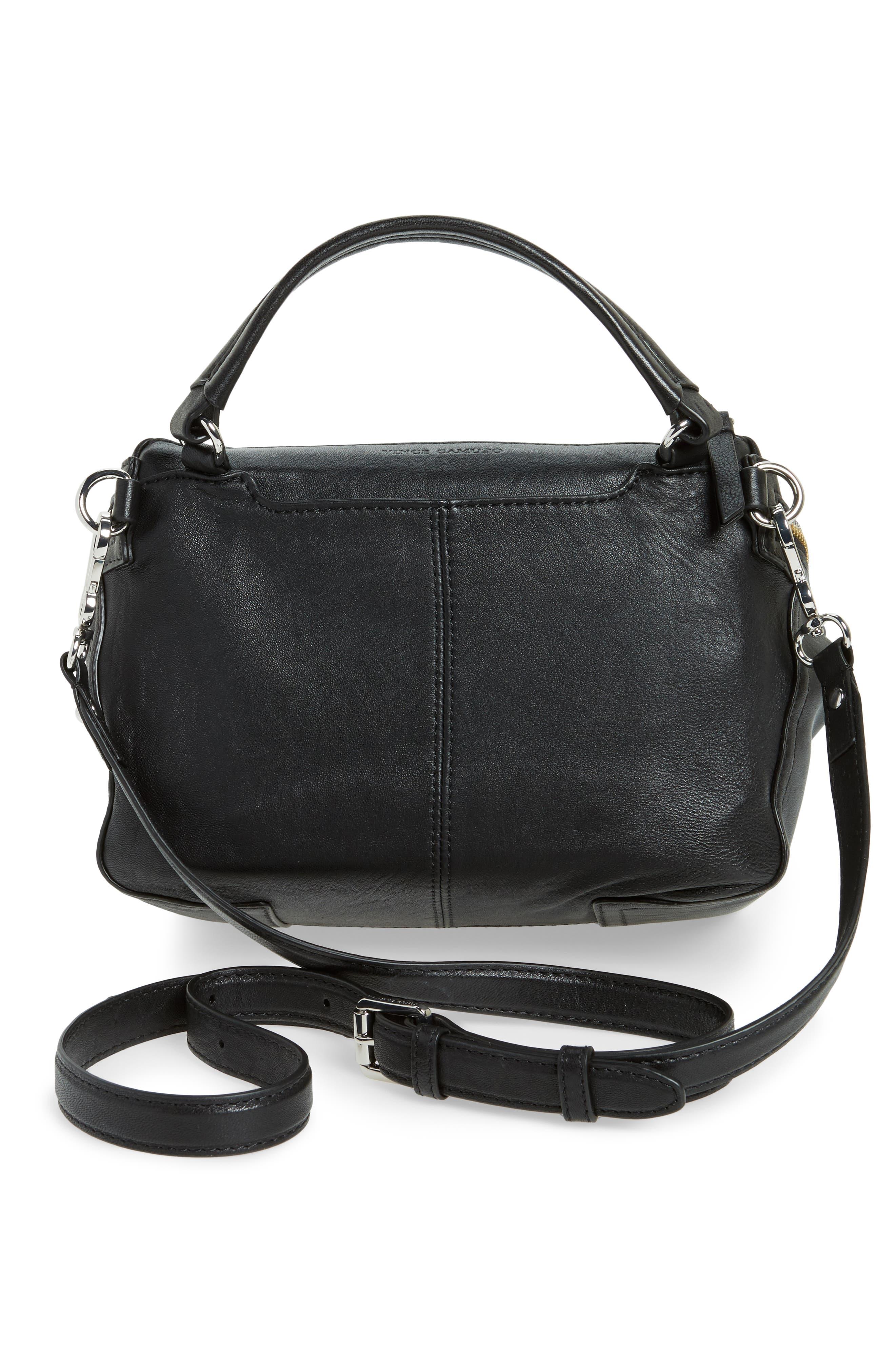 Medium Patch Leather Crossbody Bag,                             Alternate thumbnail 3, color,                             002