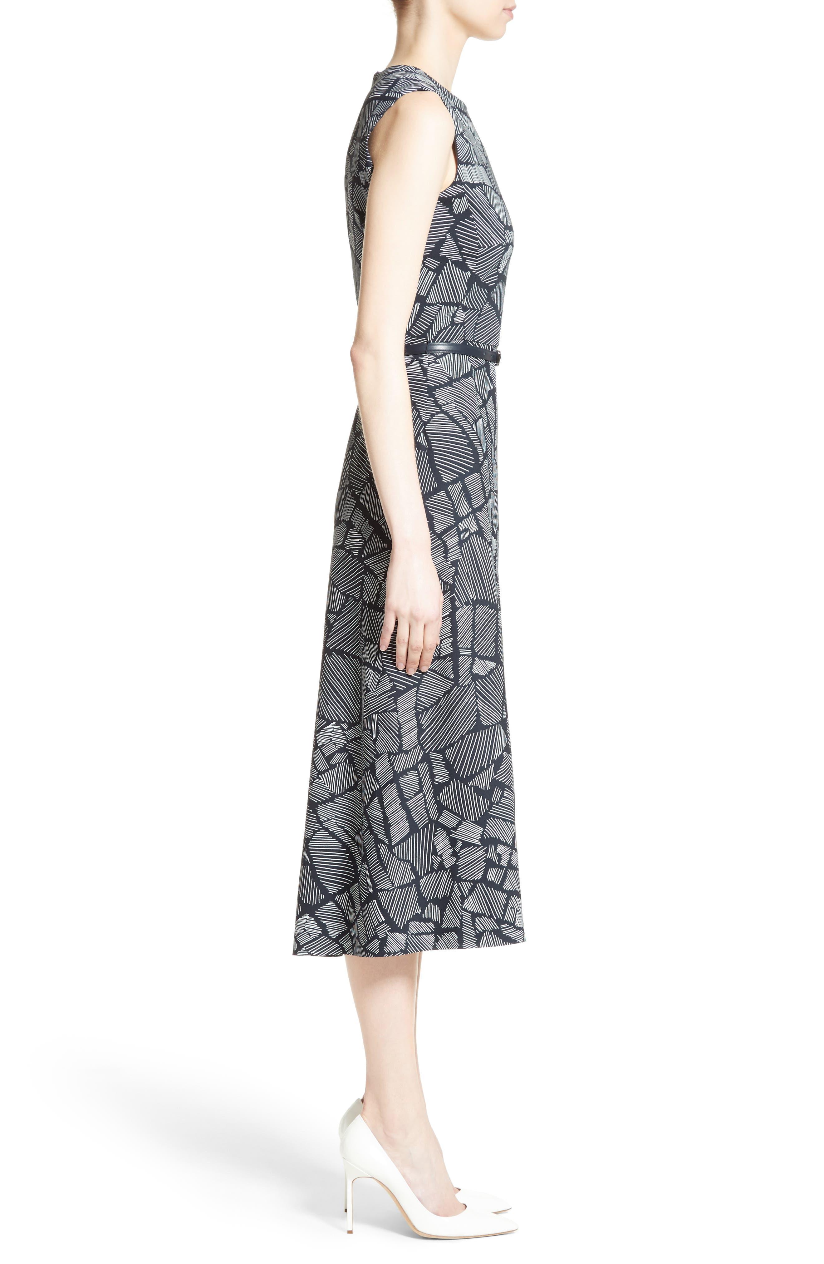 Jasmine Print Midi Dress,                             Alternate thumbnail 3, color,                             411