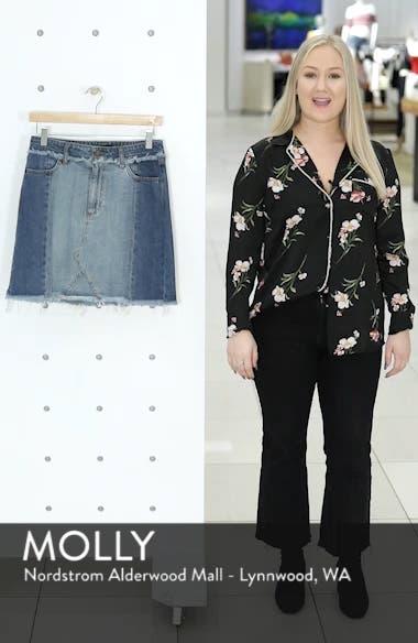 Color Block Denim Skirt, sales video thumbnail