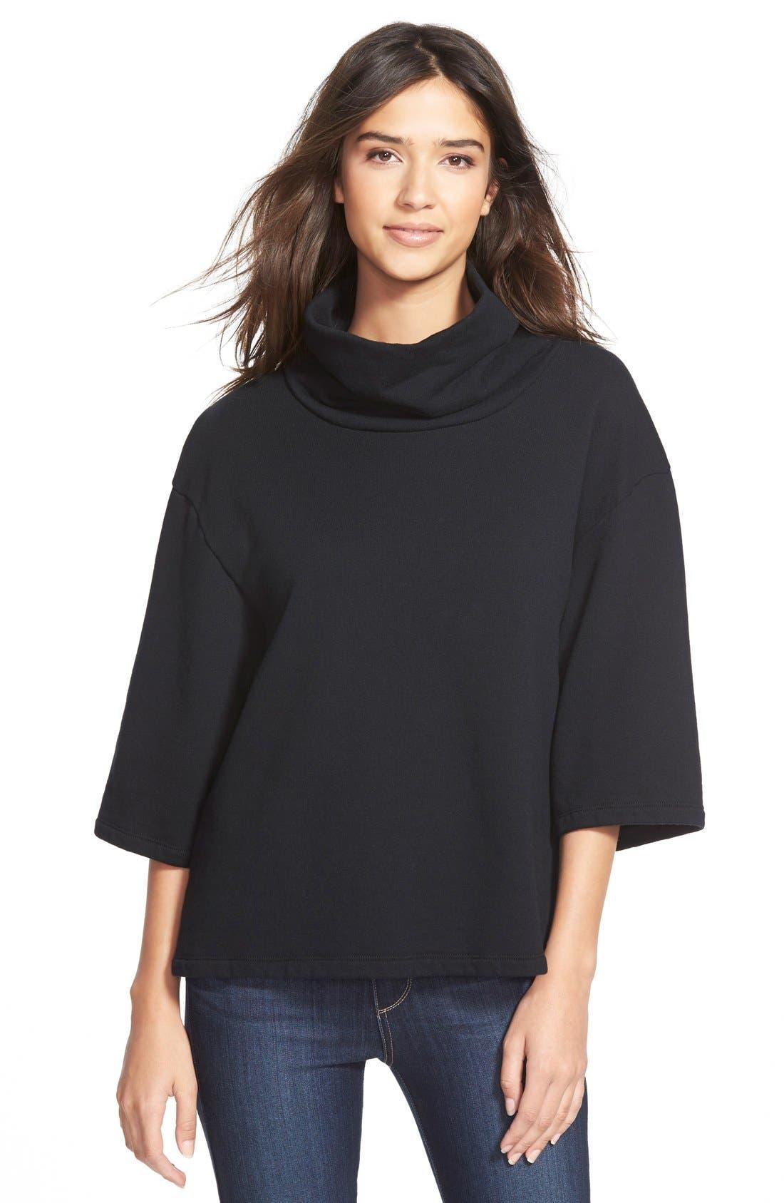 Oversize Funnel Neck Sweatshirt, Main, color, 001