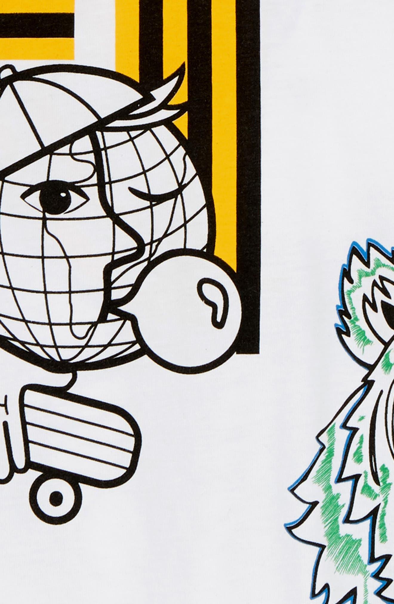 Multi Icons T-Shirt,                             Alternate thumbnail 3, color,                             WHITE