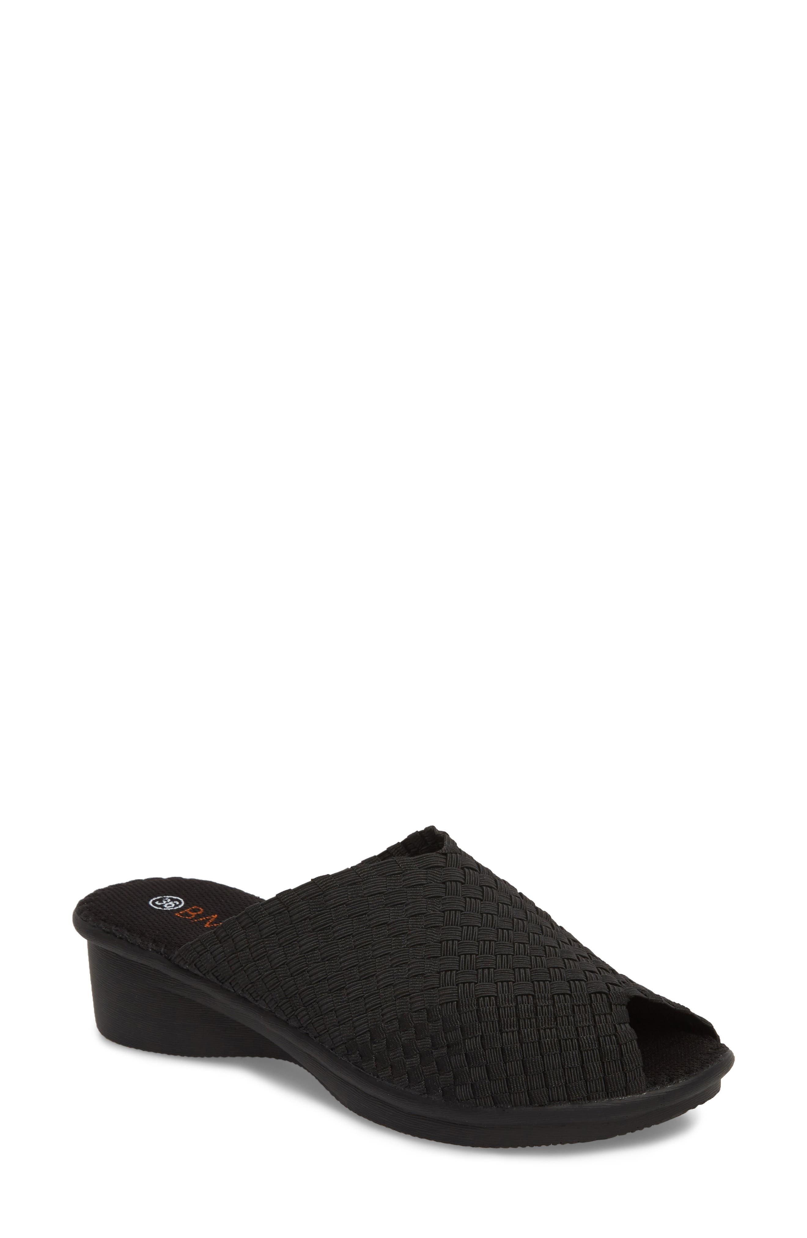 Cyrene Wedge Sandal,                         Main,                         color, BLACK FABRIC