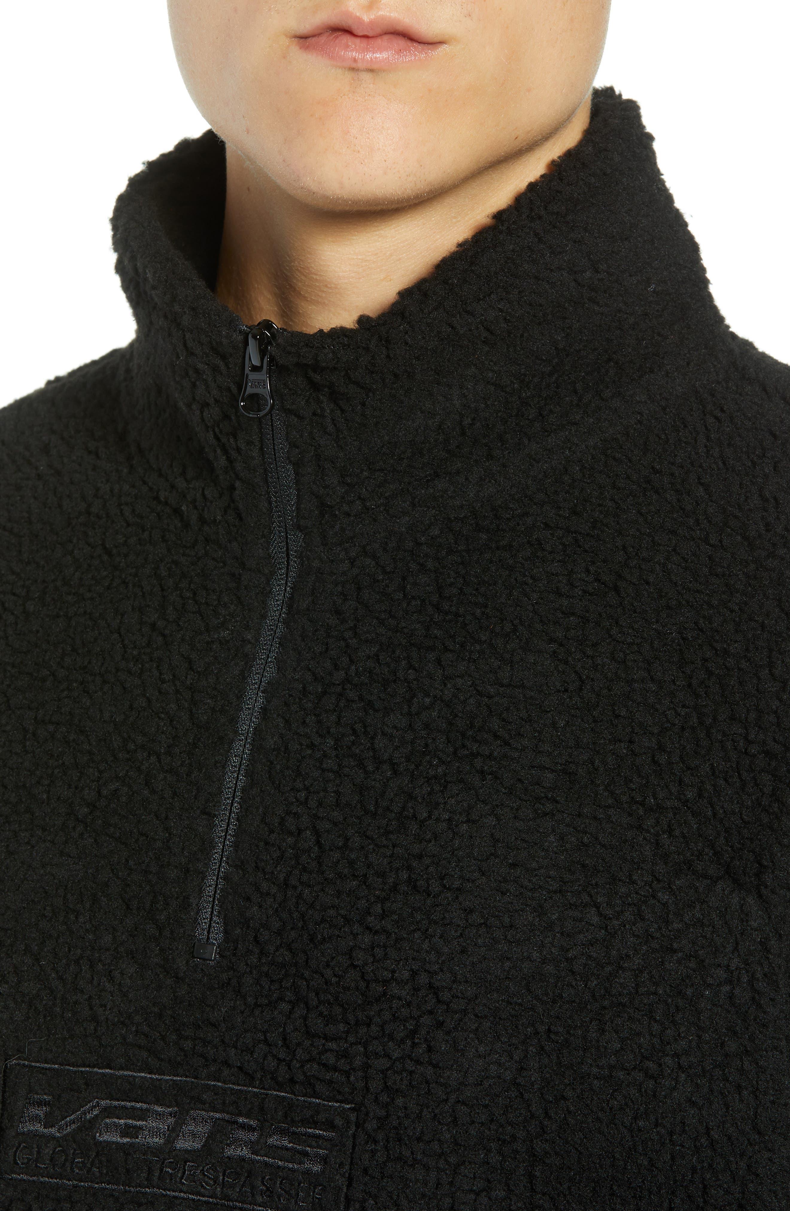 Global Trespassers Fleece Pullover,                             Alternate thumbnail 4, color,                             001