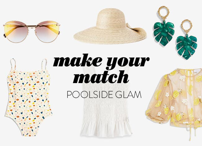 Make your match: poolside glam.