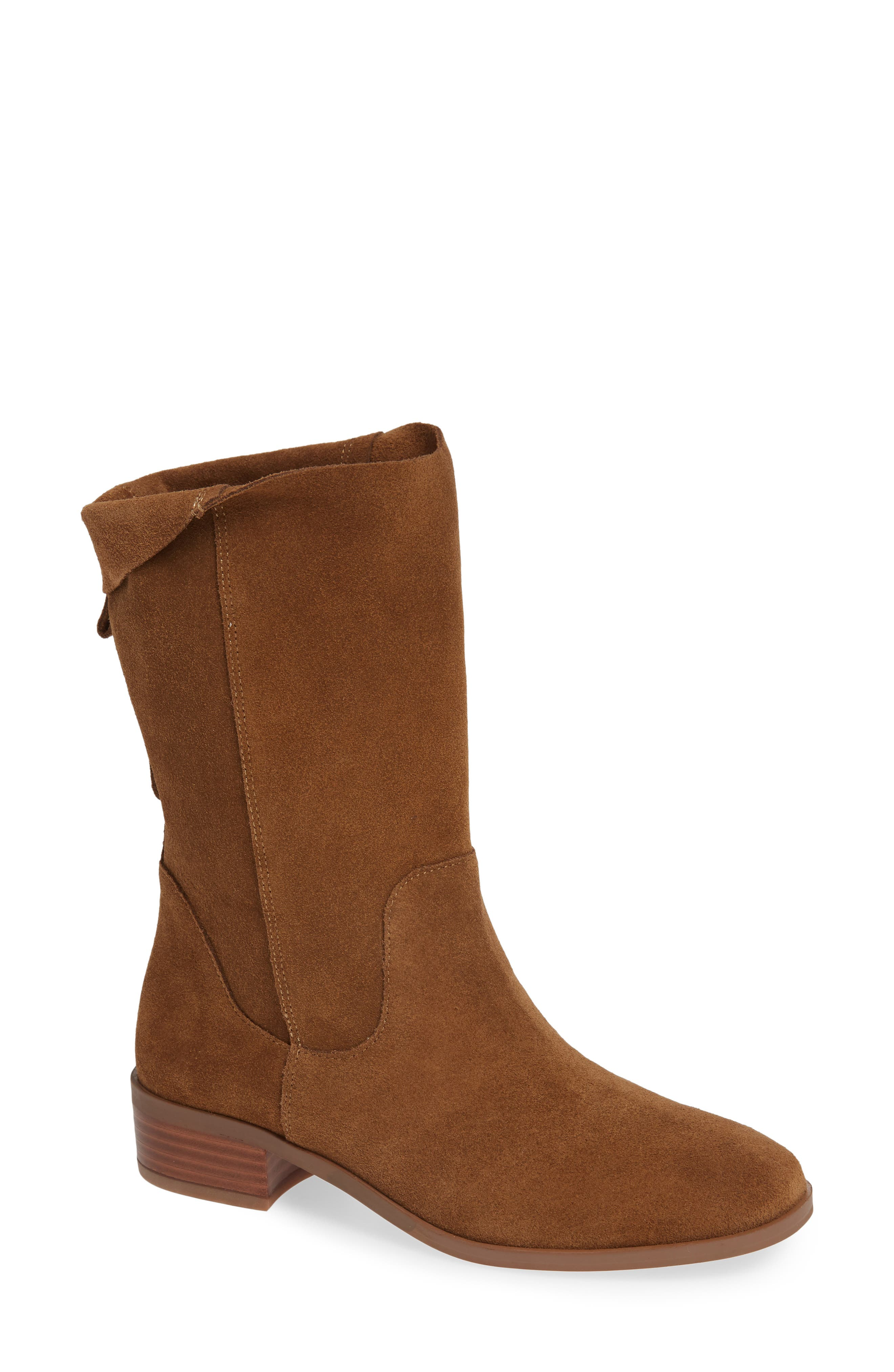 Calanth Bootie,                             Main thumbnail 1, color,                             TOBACCO SUEDE