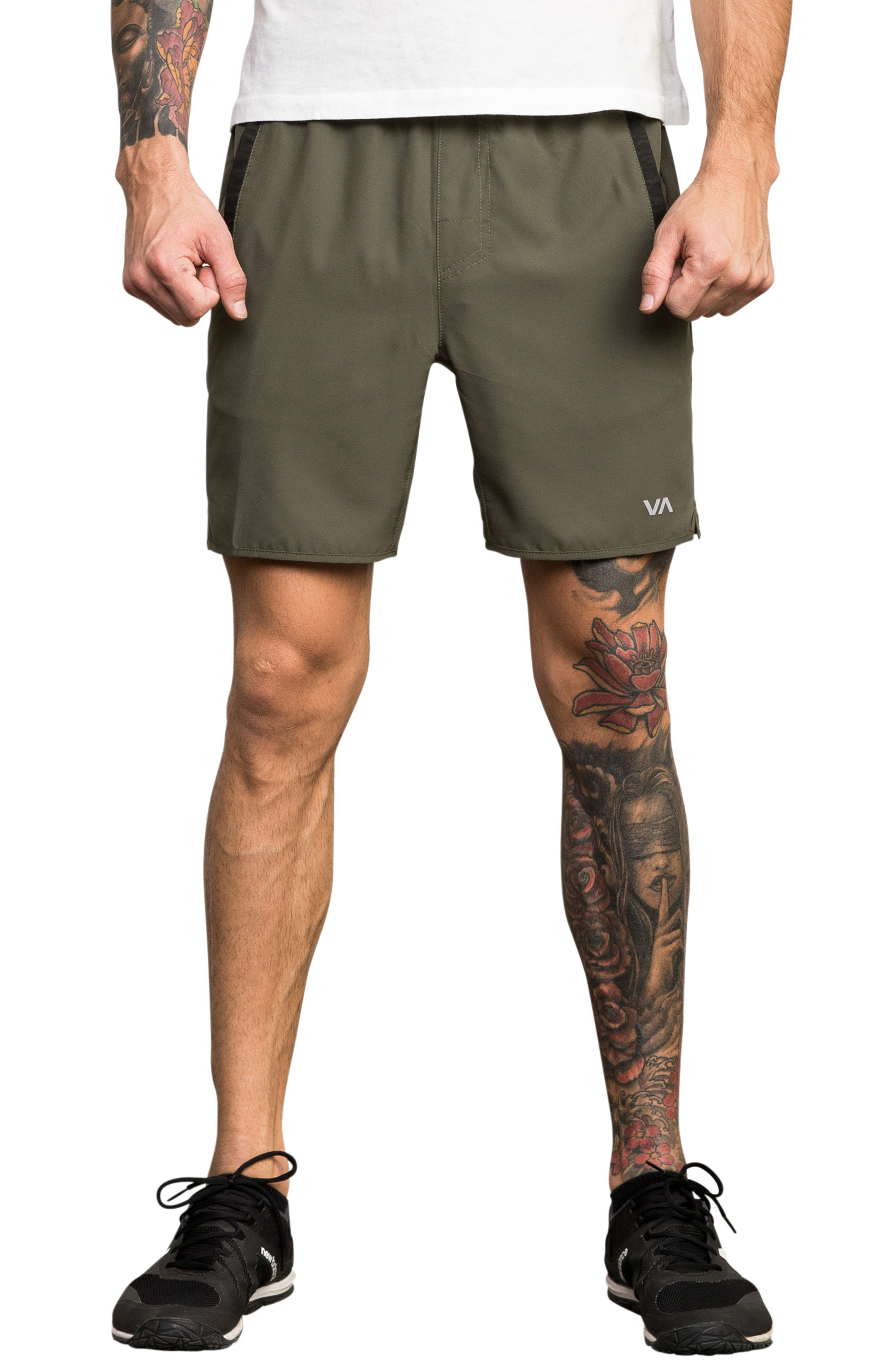 Yogger III Athletic Shorts,                             Main thumbnail 1, color,                             OLIVE