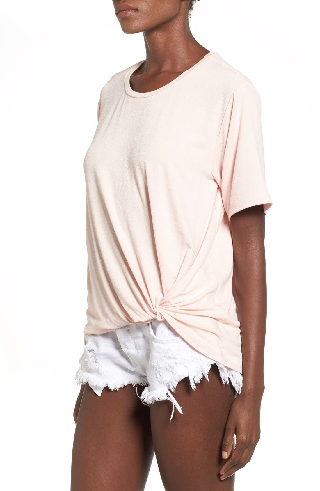 Knot Front Tee,                             Alternate thumbnail 2, color,
