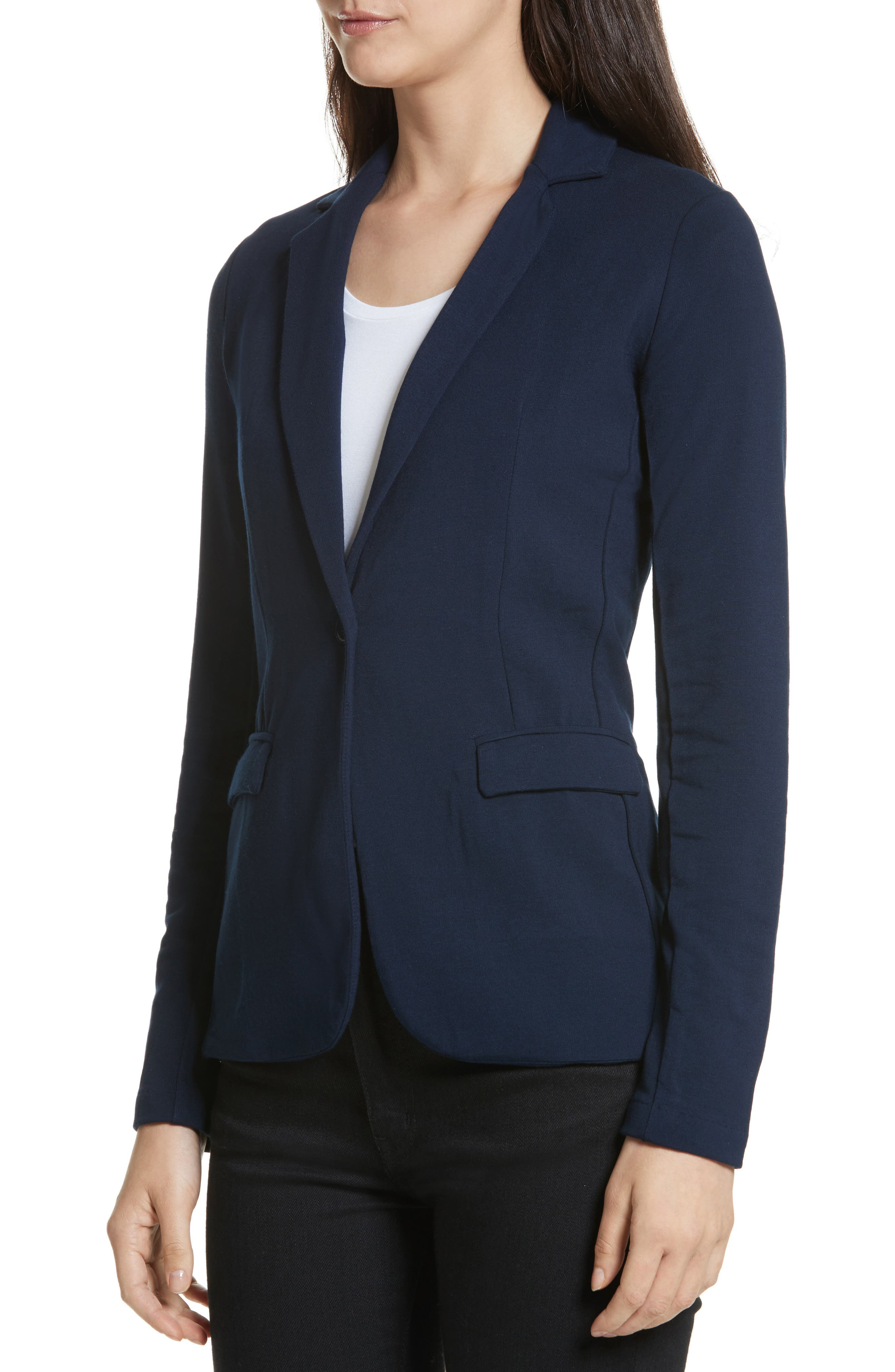 French Terry Blazer,                             Alternate thumbnail 8, color,