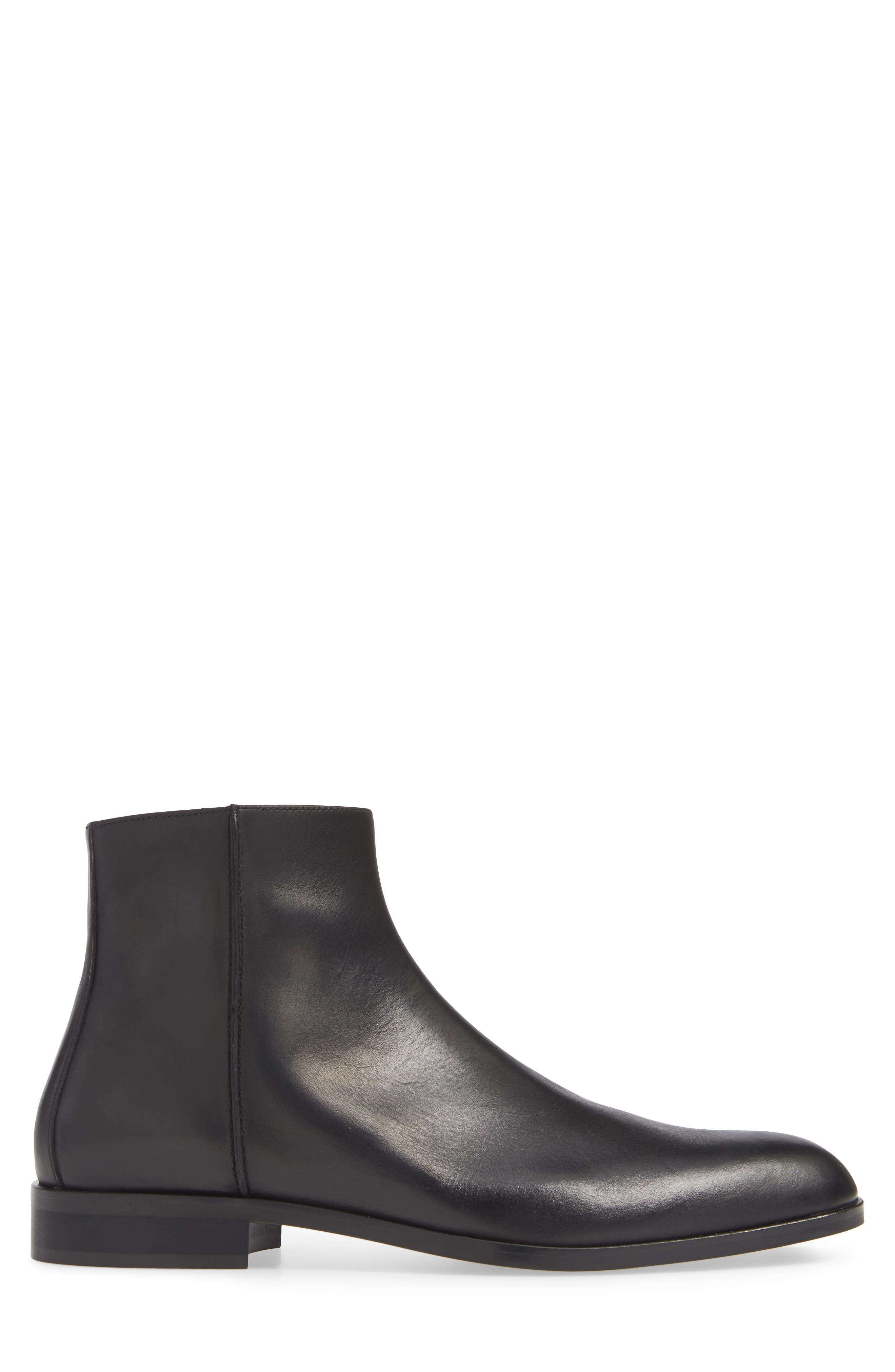 Milo Zip Boot,                             Alternate thumbnail 3, color,                             BLACK