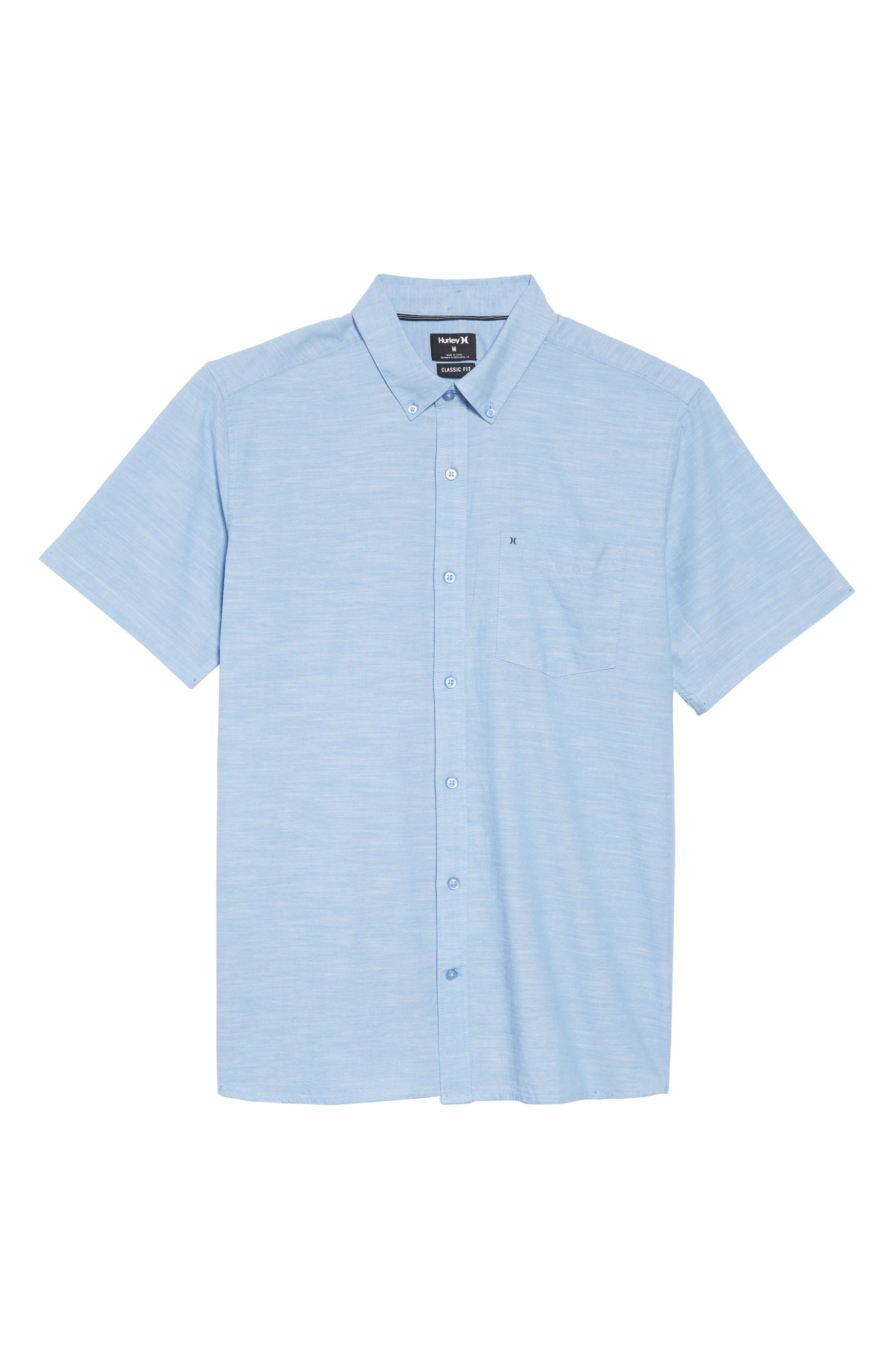 One & Only 2.0 Woven Shirt,                             Alternate thumbnail 6, color,                             BLUE OX