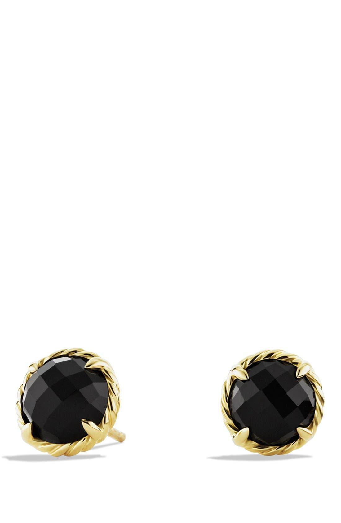 'Châtelaine' Earrings,                         Main,                         color, BLACK ONYX