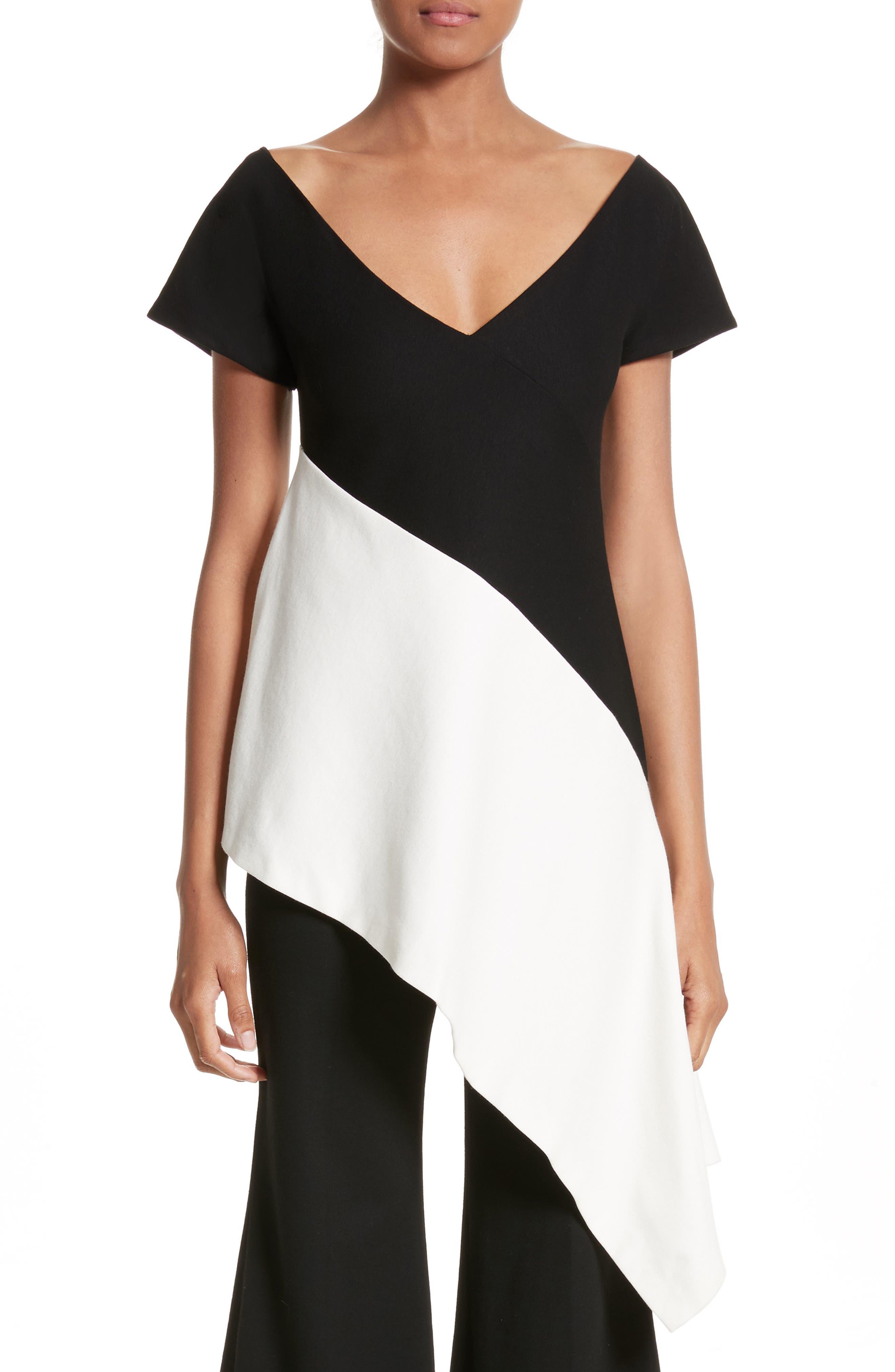 Asymmetrical Jersey Top,                         Main,                         color, 002