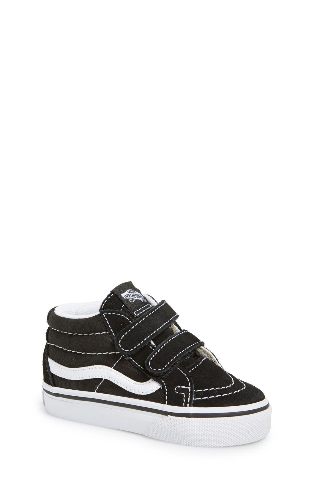 'Sk8-Mid Reissue' Sneaker,                             Main thumbnail 1, color,                             BLACK/ TRUE WHITE