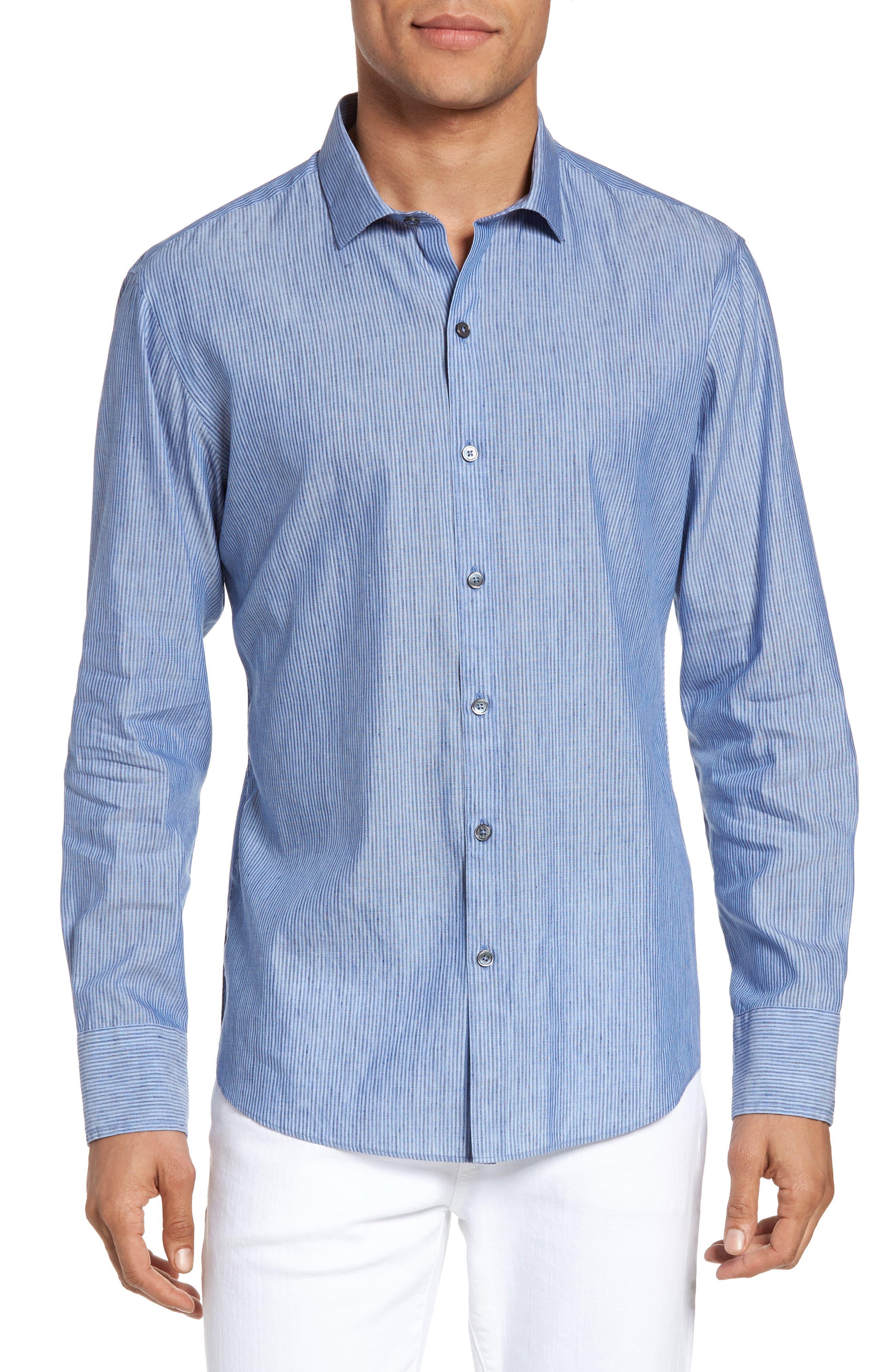 Stripe Sport Shirt,                         Main,                         color, 451