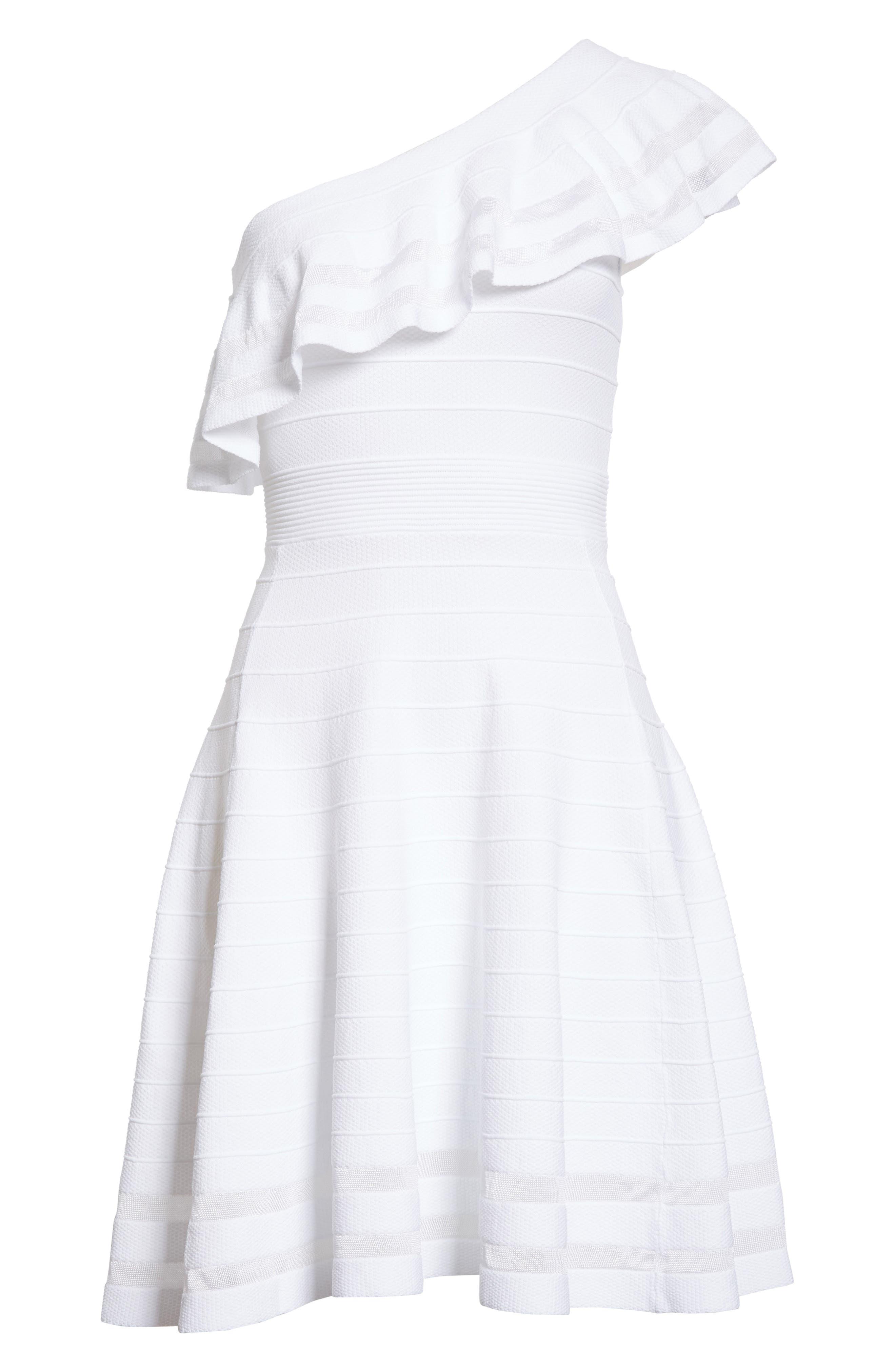 Streena Knit Skater Dress,                             Alternate thumbnail 6, color,                             110