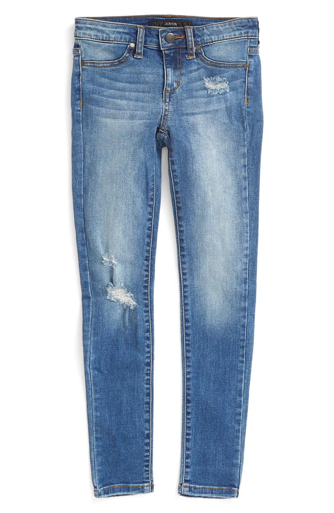 'Dawn' Distressed Jeans,                             Main thumbnail 1, color,                             456
