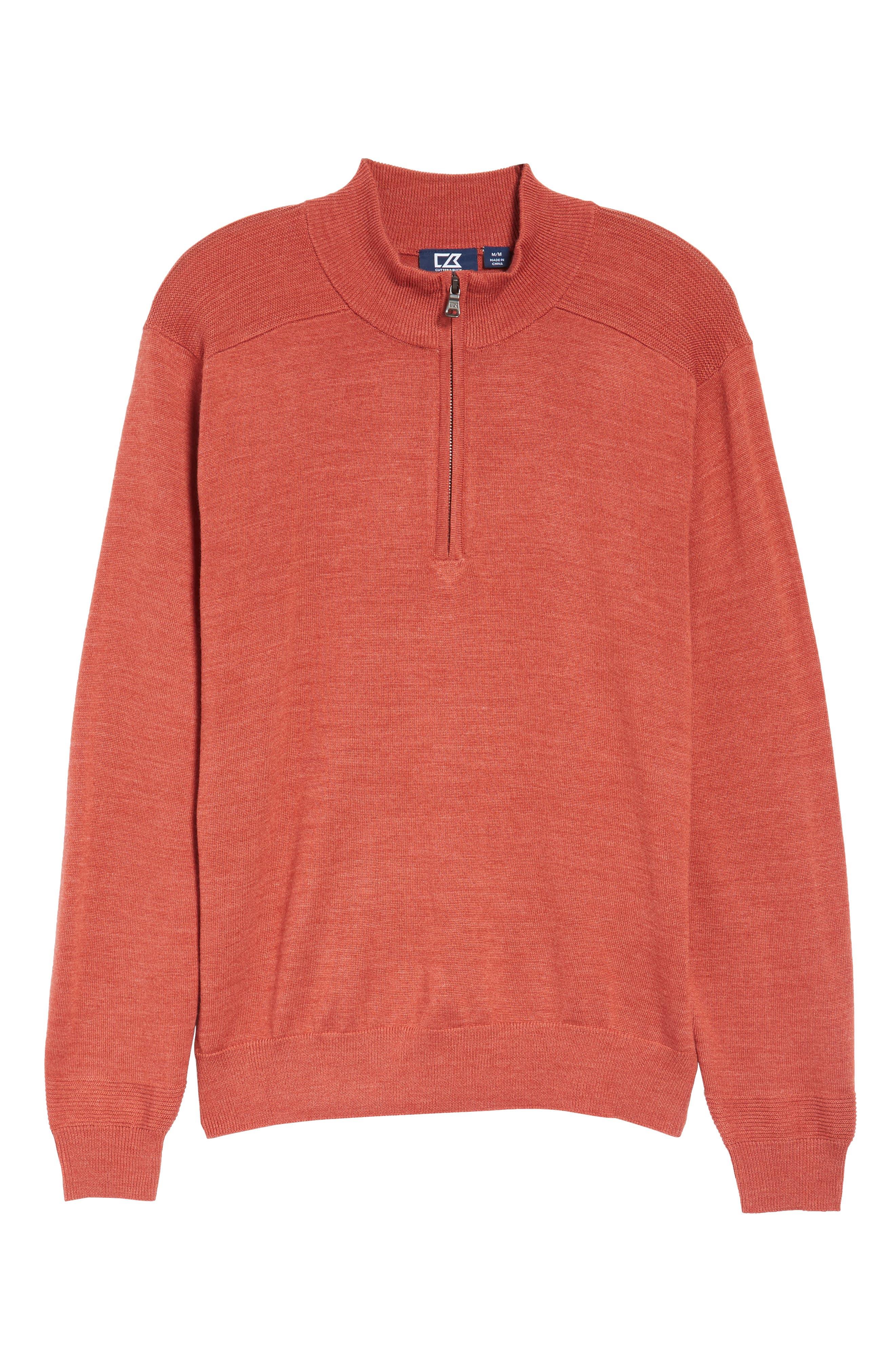 Douglas Quarter Zip Wool Blend Sweater,                             Alternate thumbnail 6, color,                             600