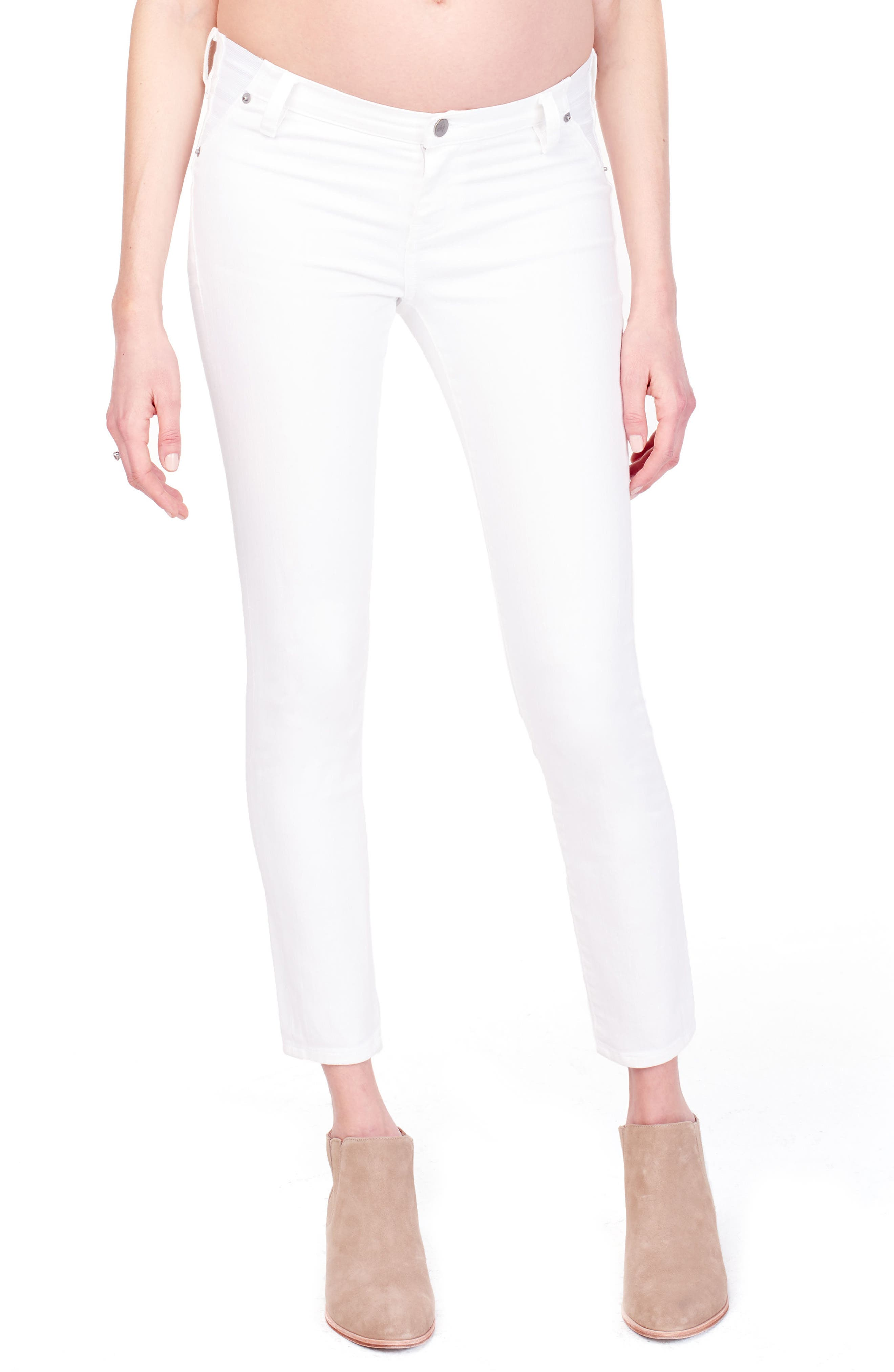 Sasha Maternity Skinny Jeans,                         Main,                         color, WHITE