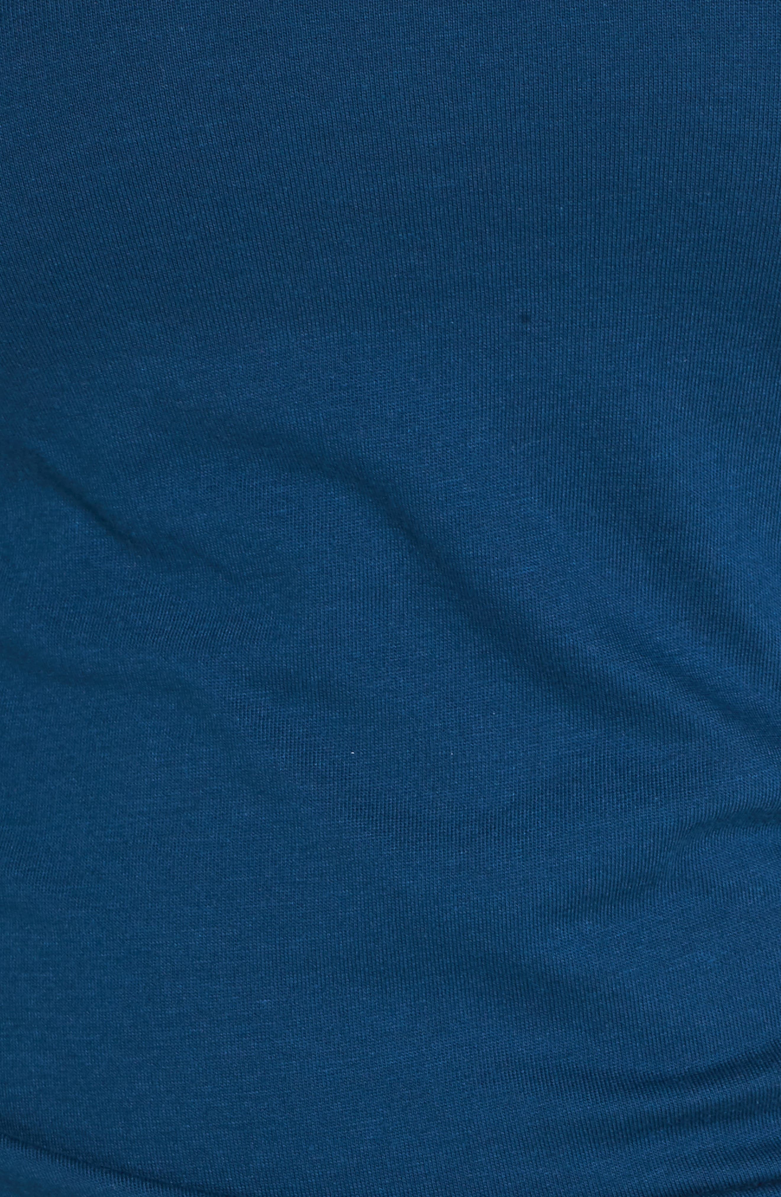 Ruched Sheath Dress,                             Alternate thumbnail 6, color,                             BLUE AURORA