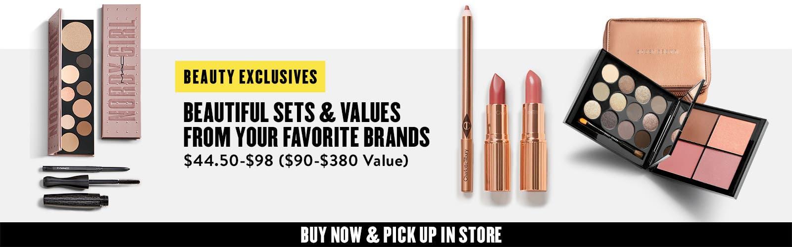 Anniversary makeup exclusives.