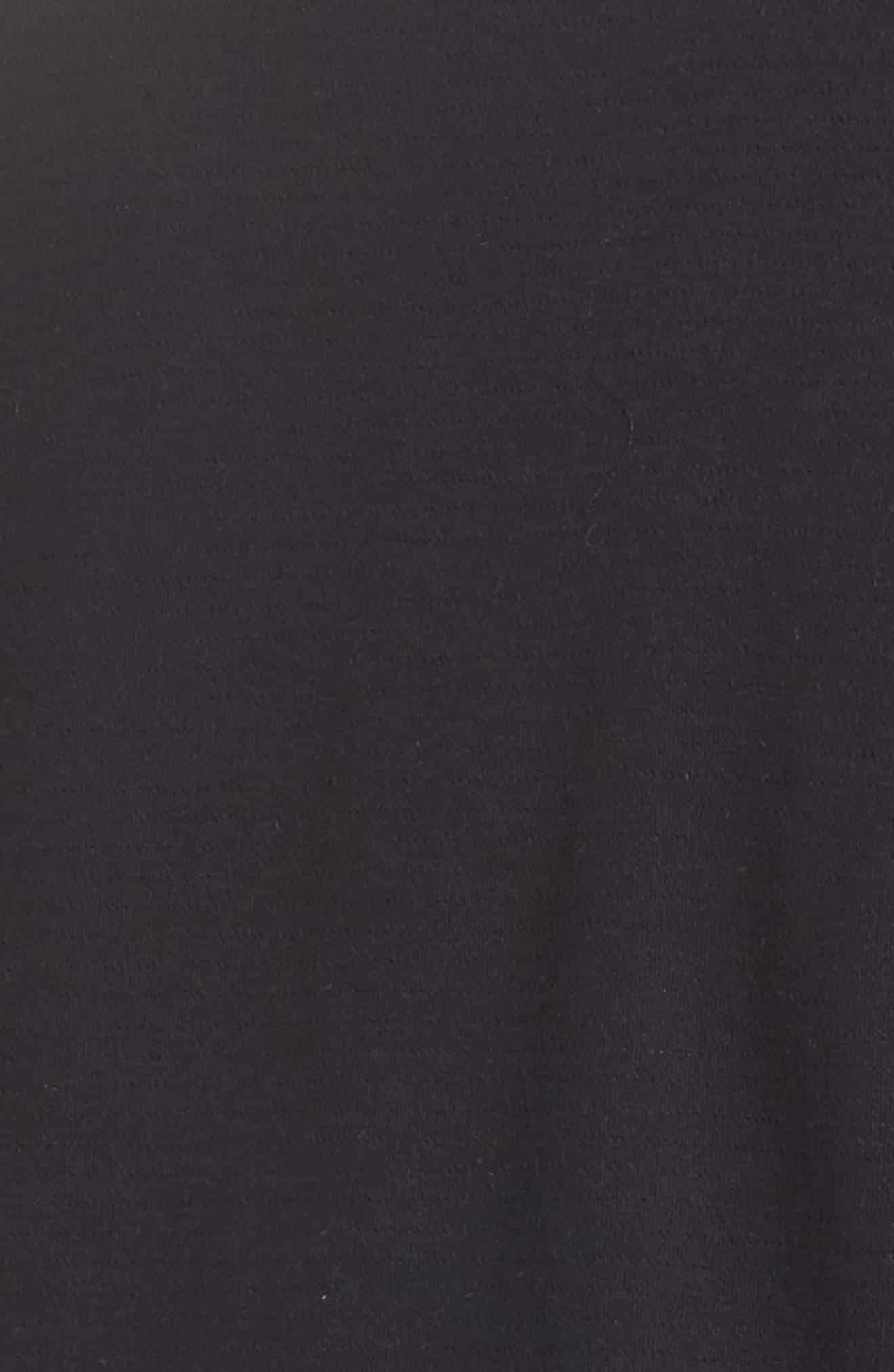 Wing Collar Knit Blazer,                             Alternate thumbnail 5, color,                             001
