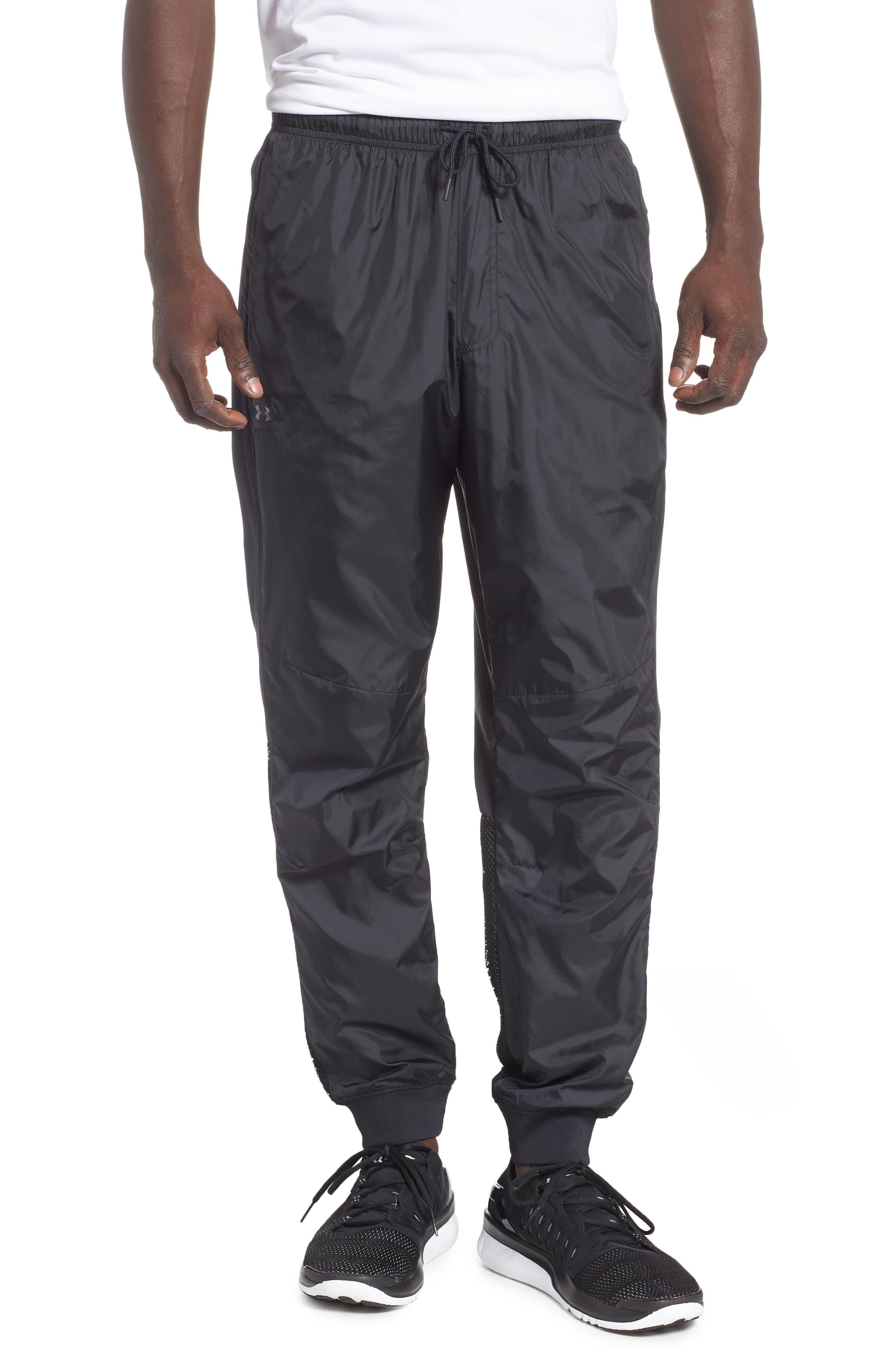 UNDER ARMOUR,                             Sportstyle Wind Pants,                             Main thumbnail 1, color,                             BLACK