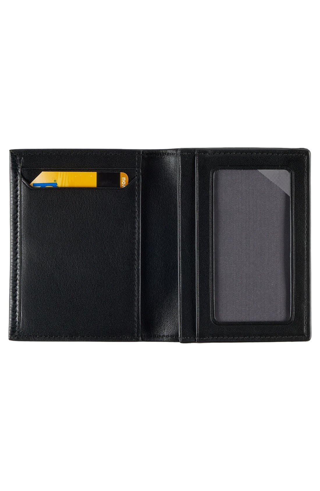 Monaco Leather Card Case,                             Alternate thumbnail 2, color,                             001