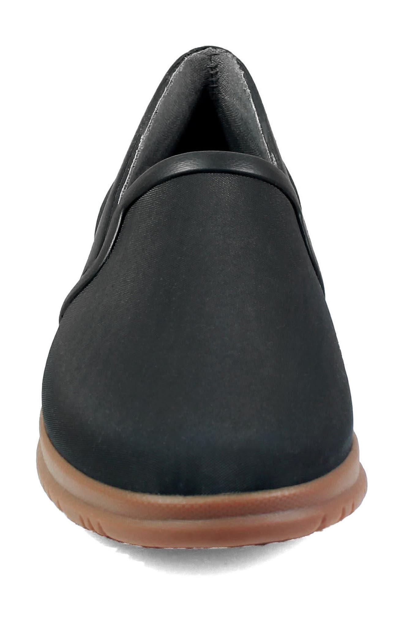 Sweetpea Waterproof Slip-On Sneaker,                             Alternate thumbnail 4, color,                             BLACK FABRIC