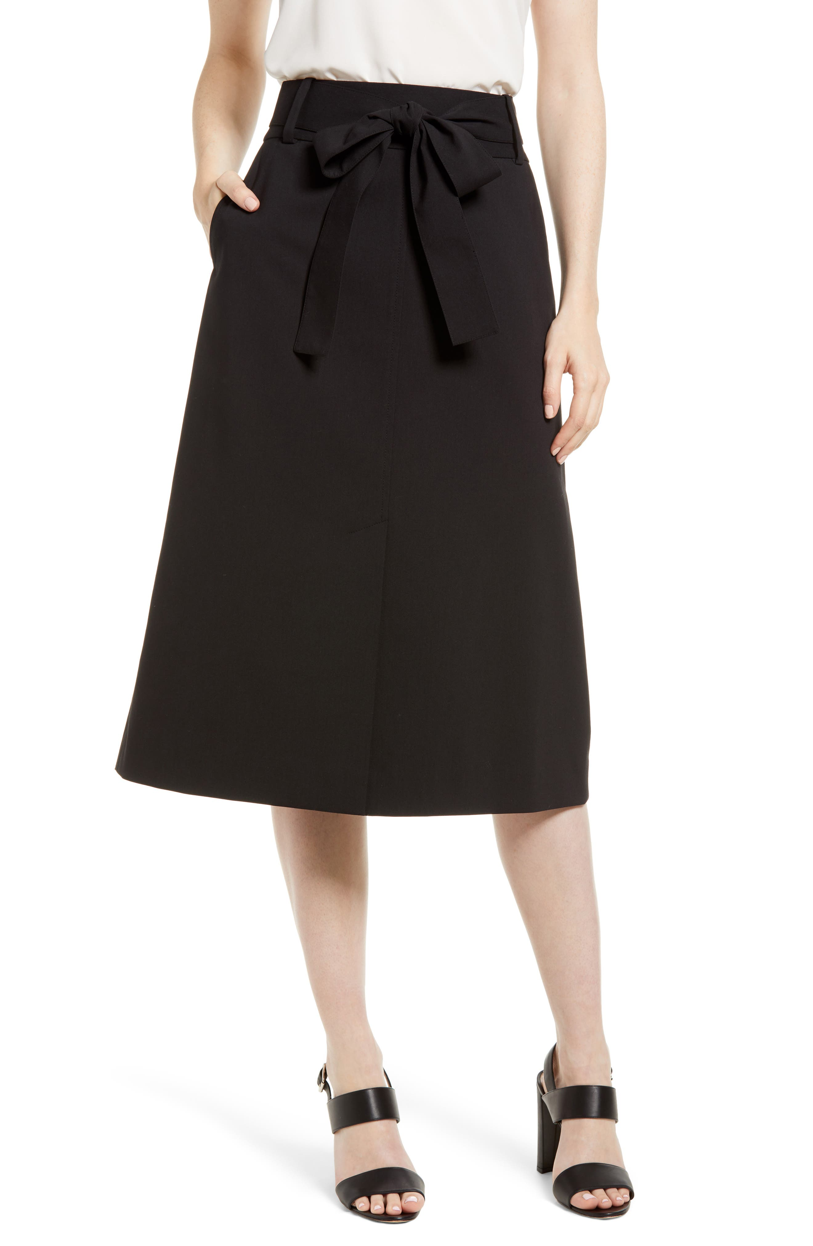 EMERSON ROSE Tie Waist Skirt, Main, color, 001