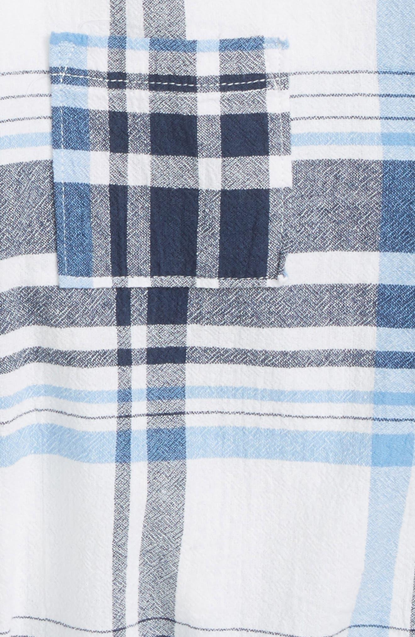 Tie Front Plaid Shirt,                             Alternate thumbnail 2, color,                             471