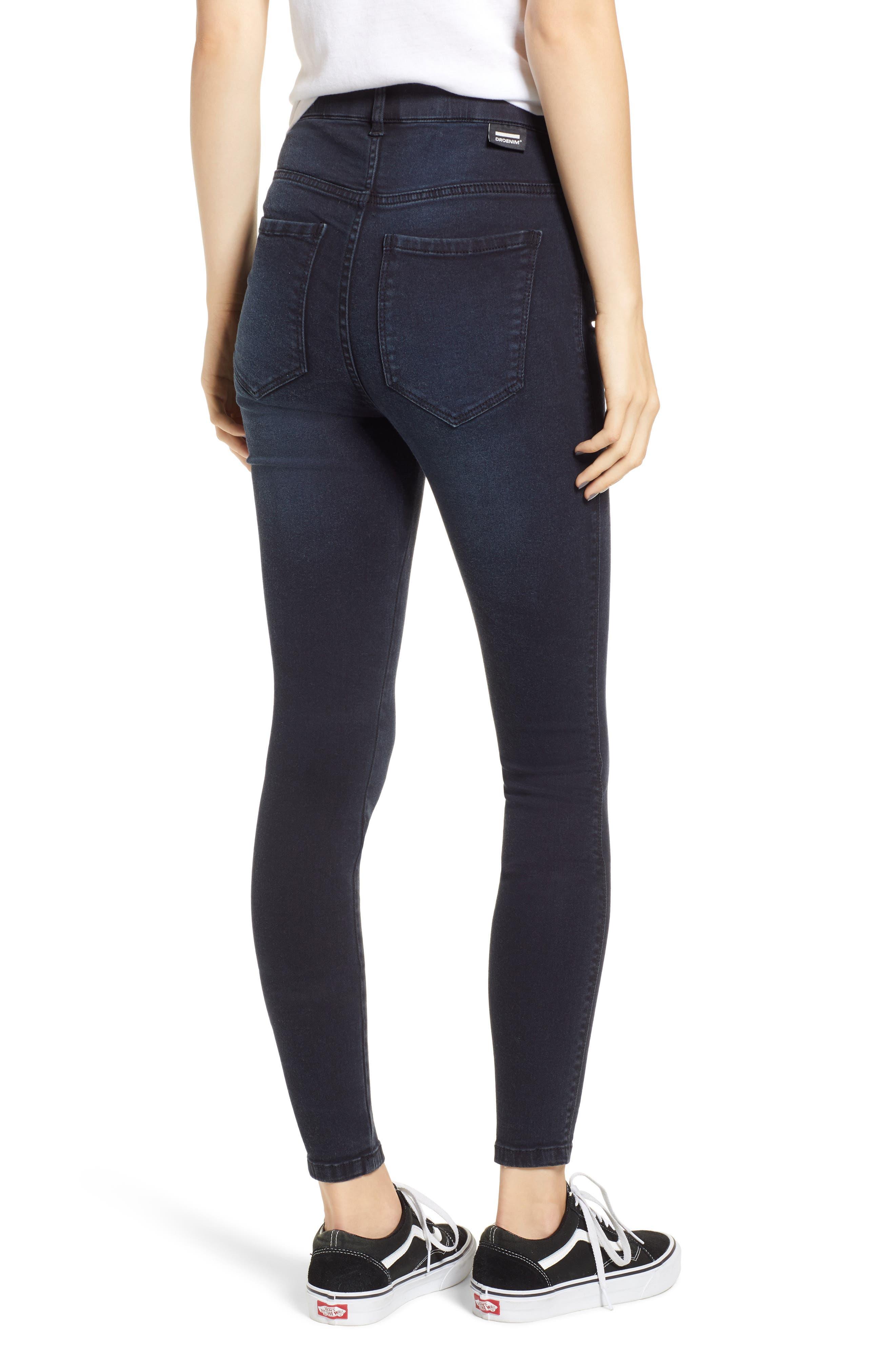 Moxy Skinny Jeans,                             Alternate thumbnail 2, color,                             PITCH DARK BLUE