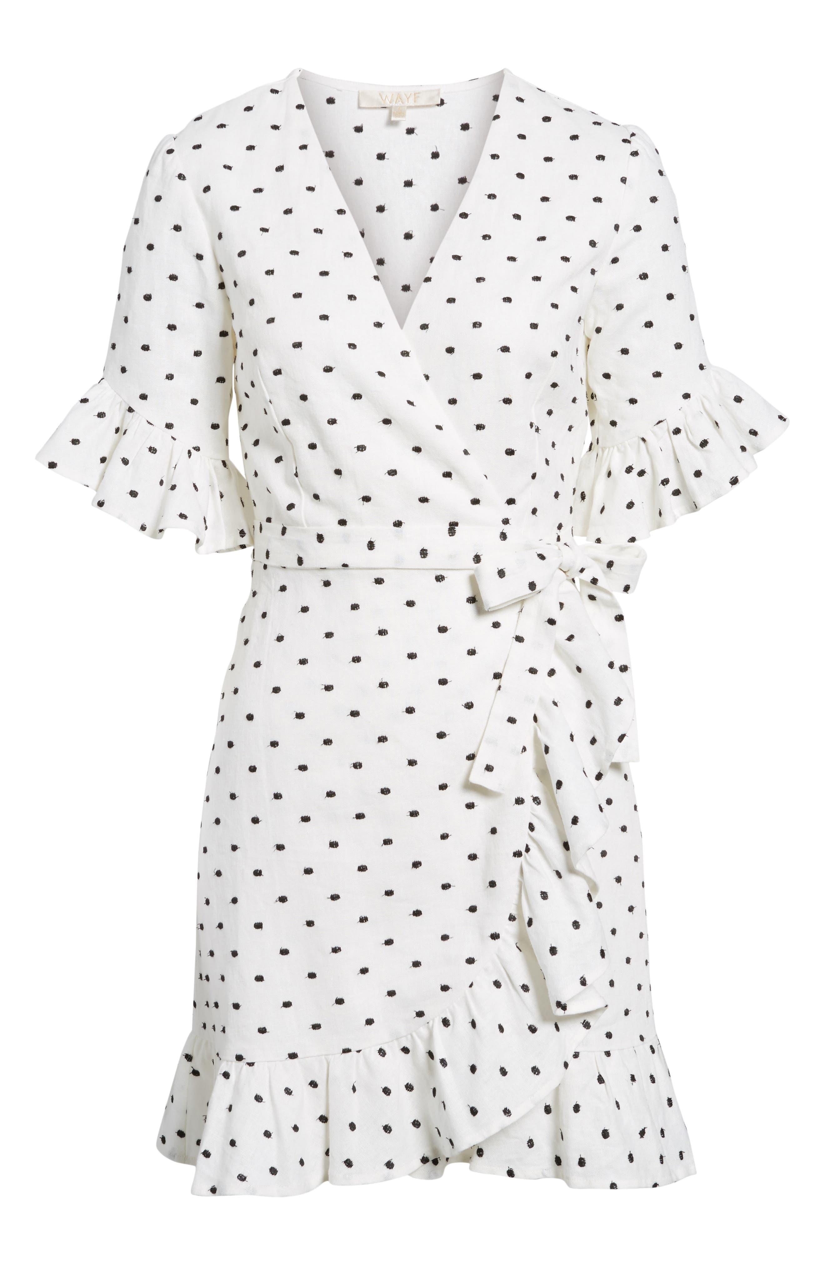 Ruffle Wrap Dress,                             Alternate thumbnail 30, color,
