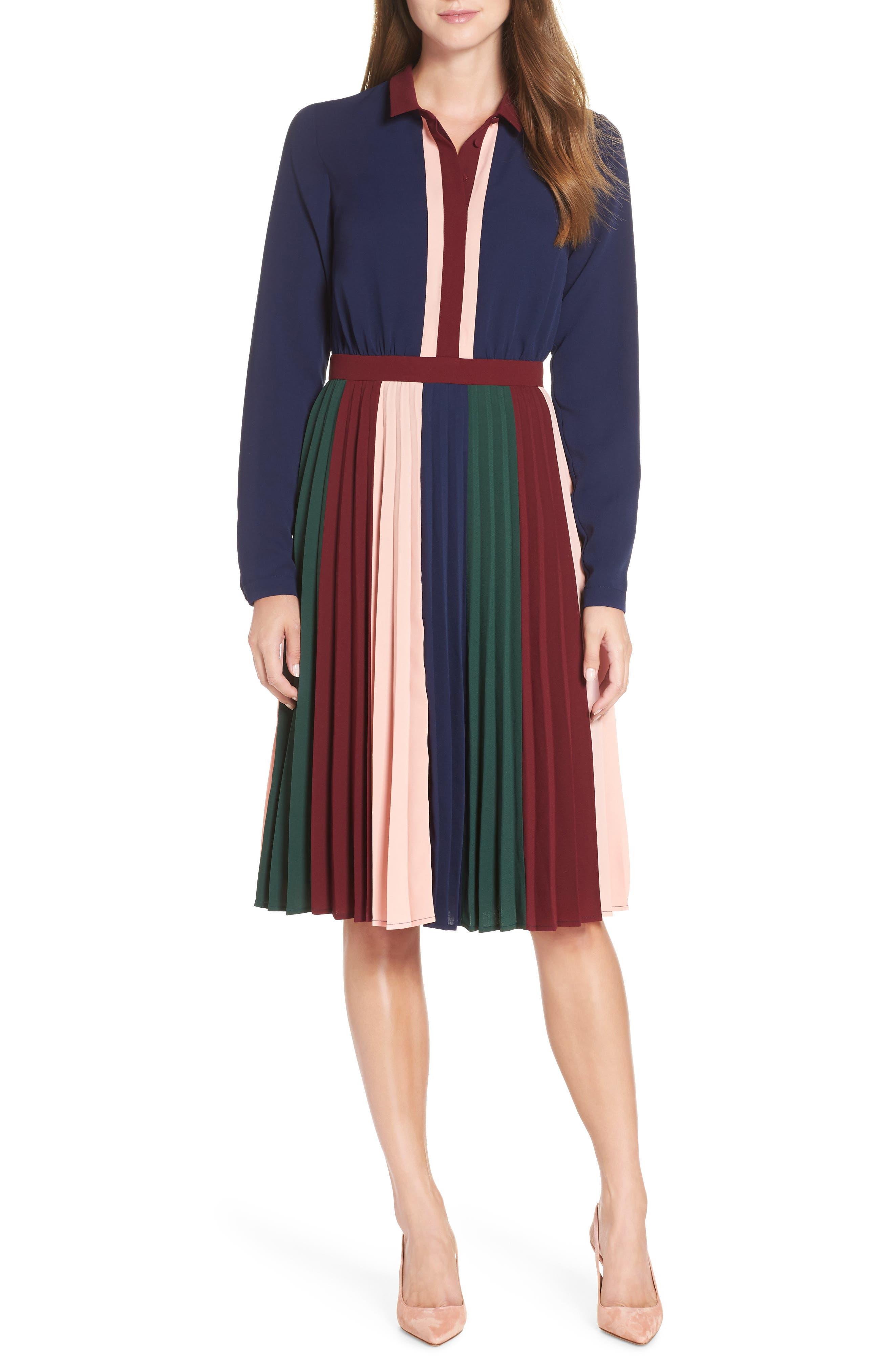Colorblock Midi Dress,                         Main,                         color, 410