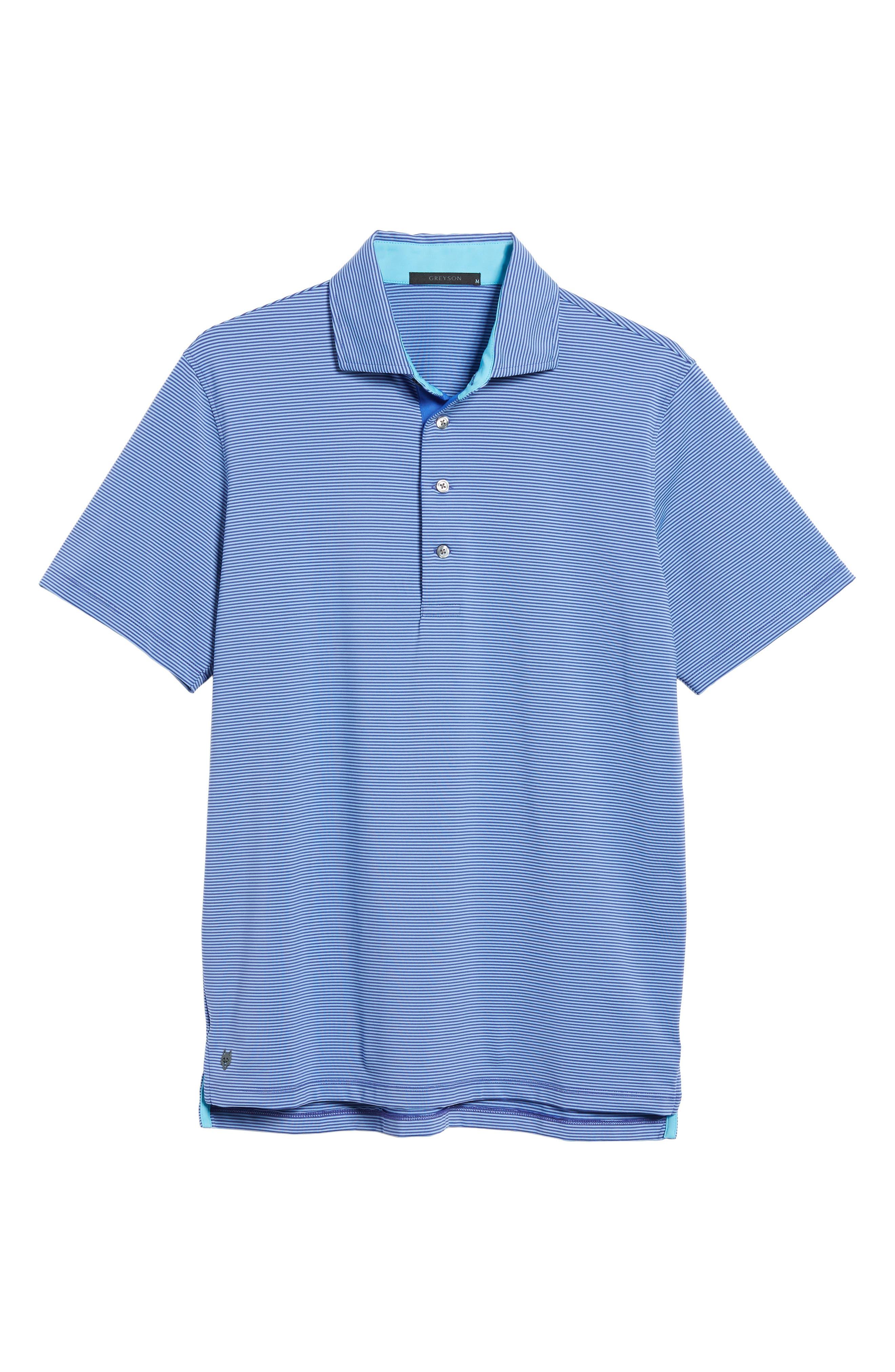 Saranac Jersey Polo,                             Alternate thumbnail 6, color,                             TWILIGHT/ ICE