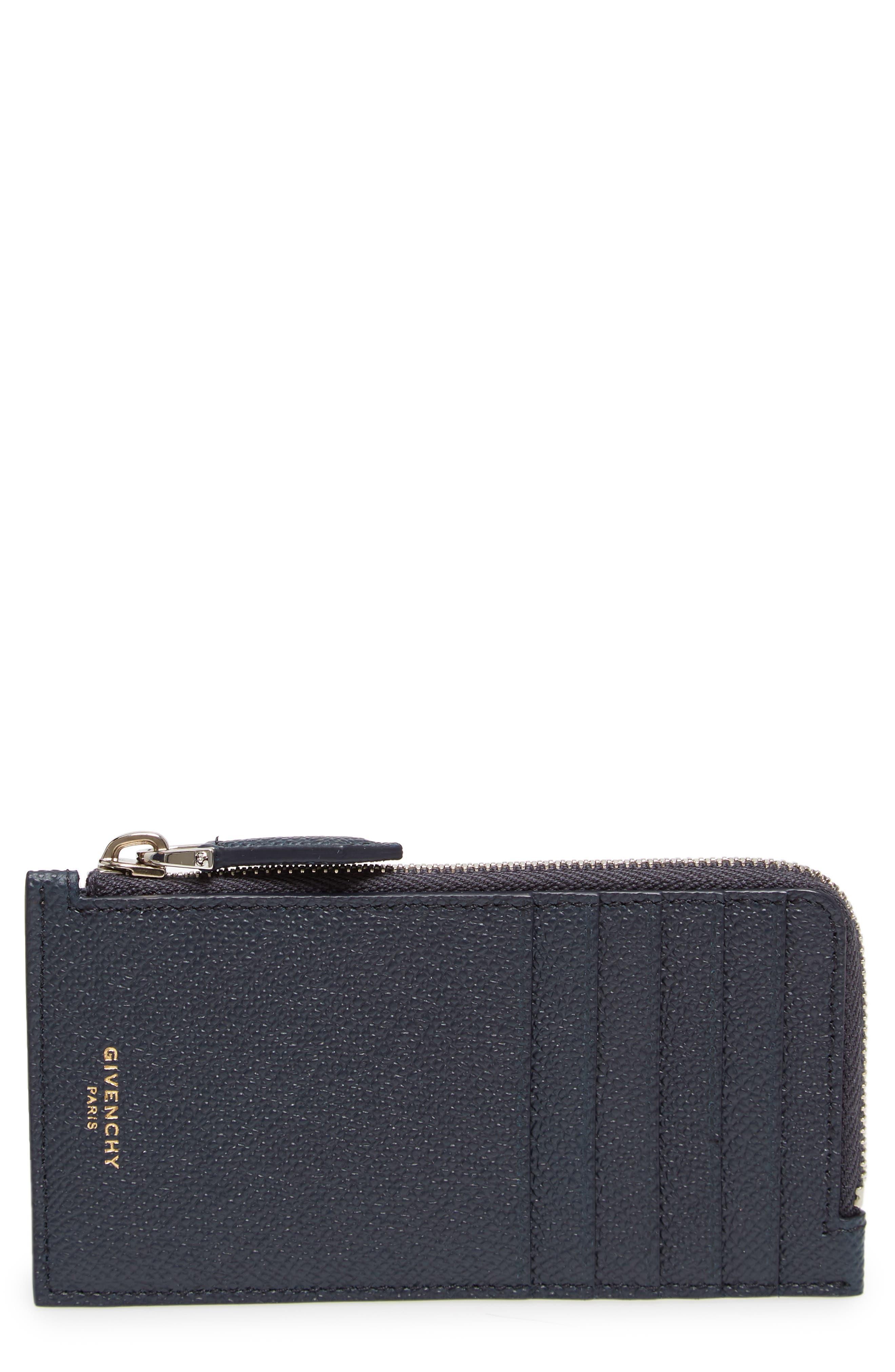 Eros Large Leather Zip Card Case,                             Main thumbnail 1, color,                             410